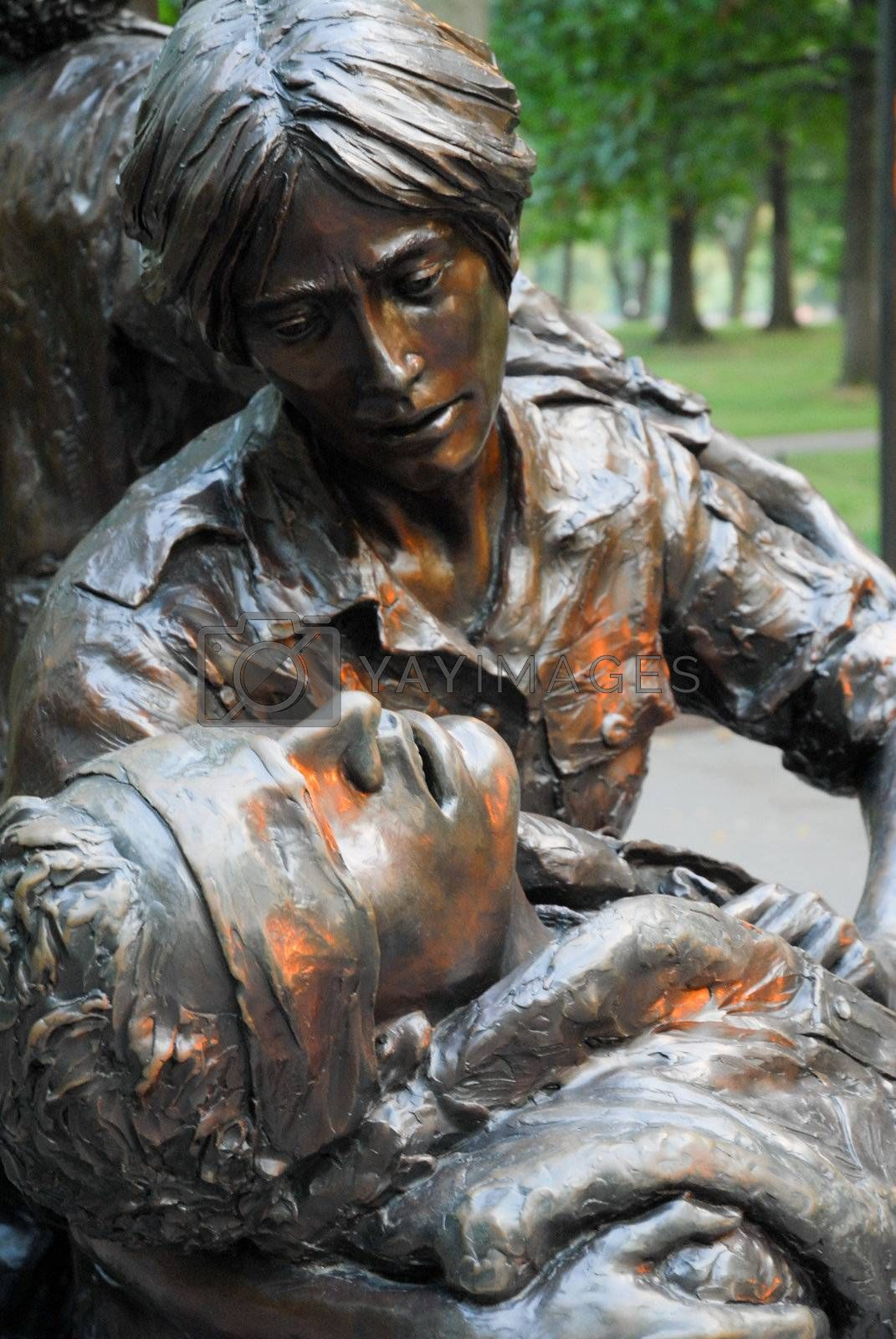 Statue of Nurse Caring for Wounded Soldier Royalty Free Stock Image | Stock  Photos, Royalty Free Images, Vectors, Footage | Yayimages