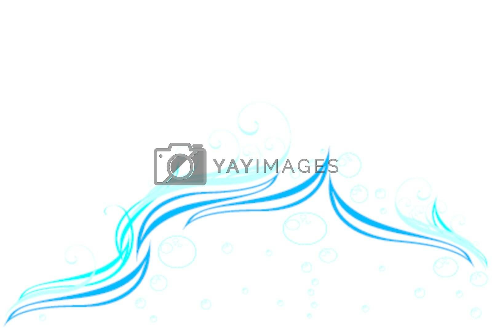 Dark blue splashes in water and air vials