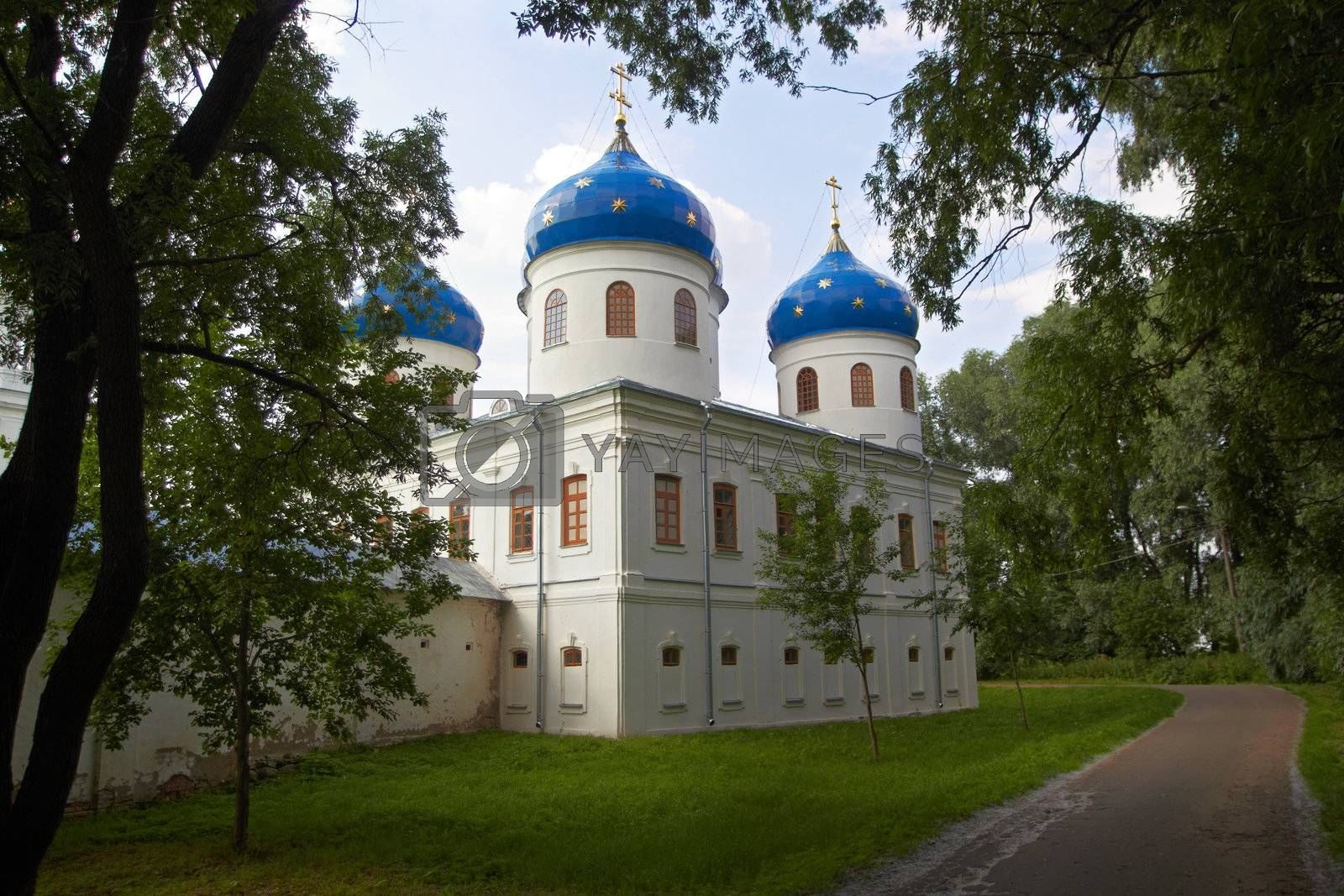 Royalty free image of Russian Orthodox church of Juriev monastery by michey