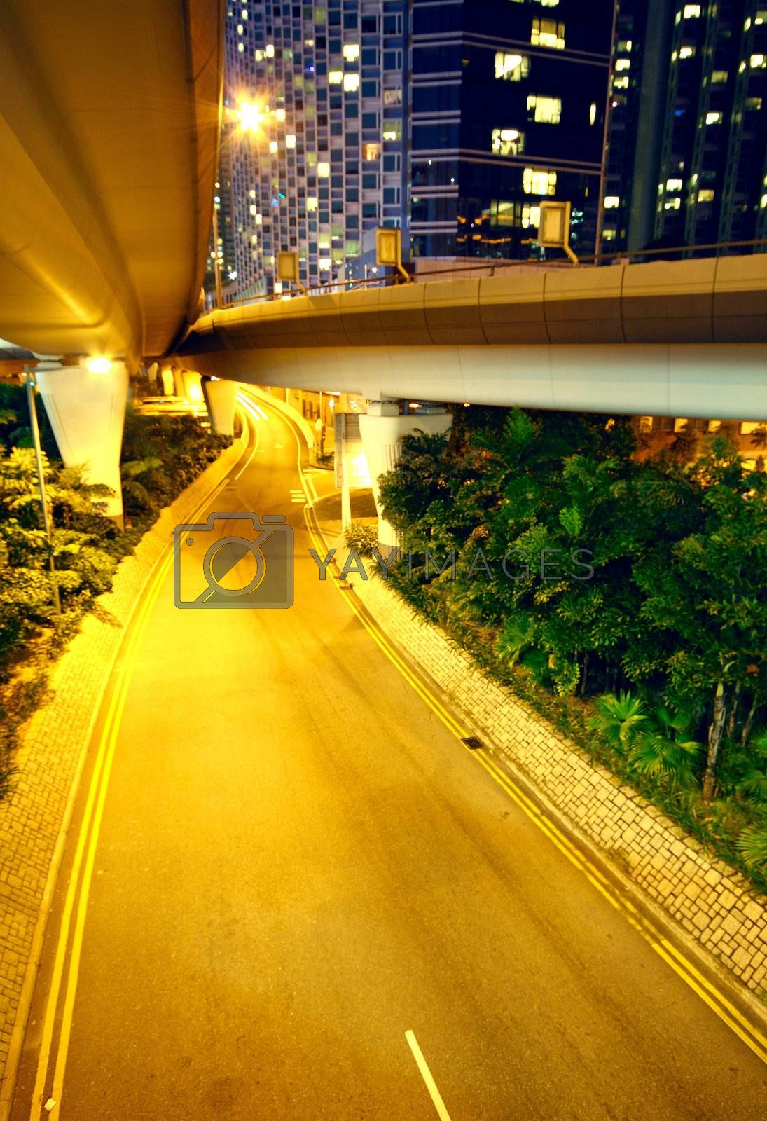 Royalty free image of urban area at night by cozyta