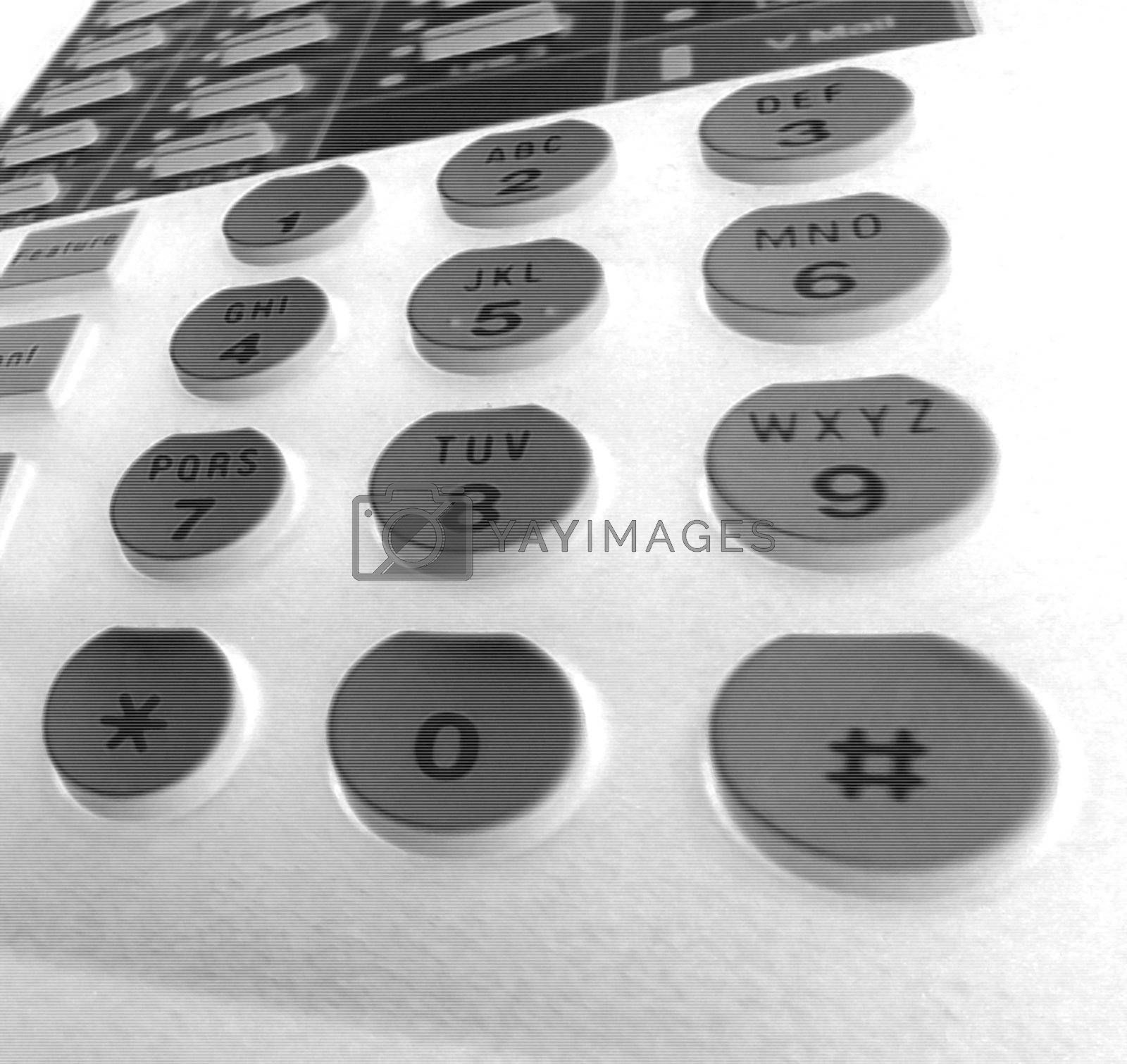 Keypad Closeup of my desk phone.
