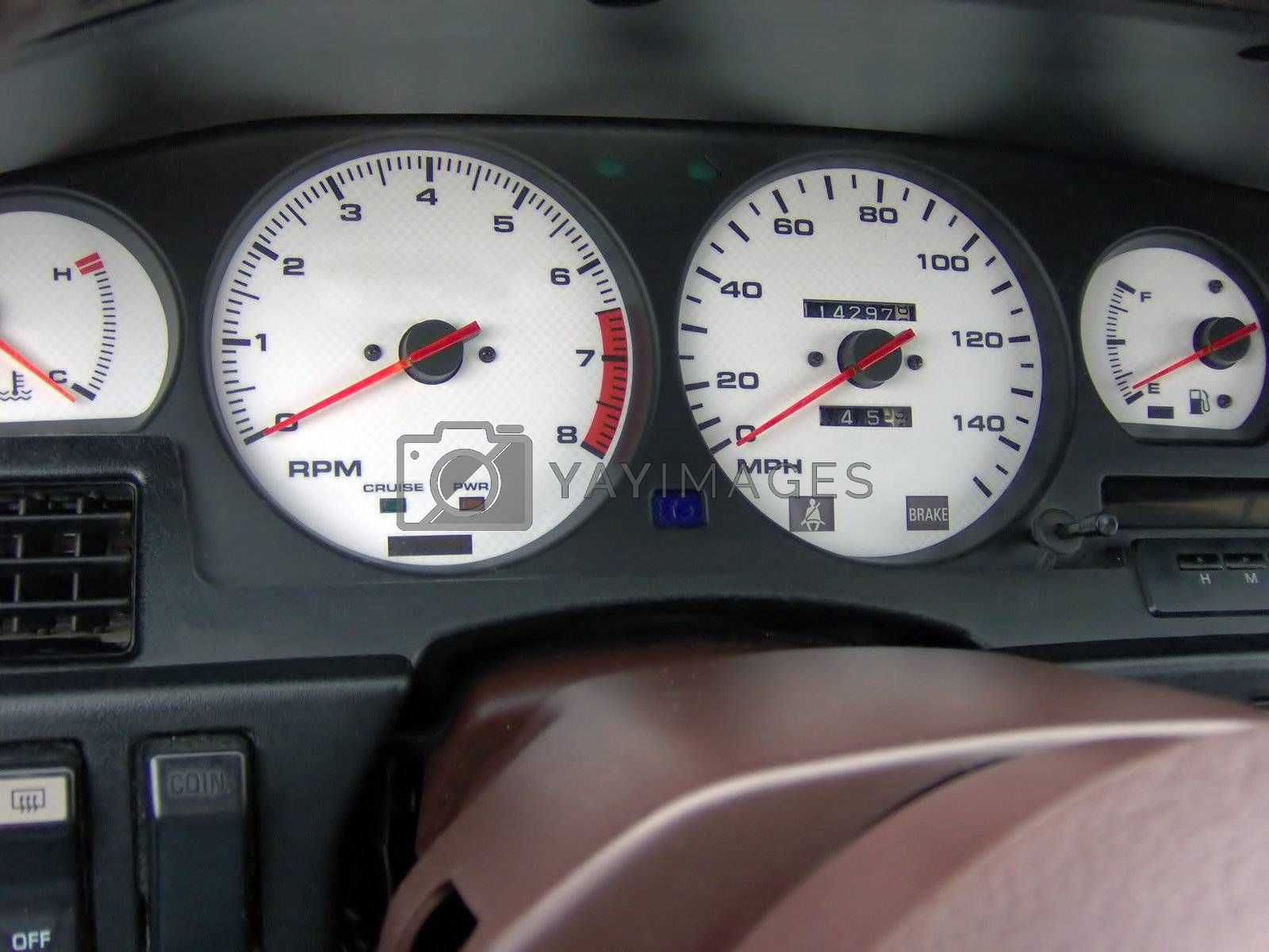 This is the custom indiglo gauge cluster in my mk3 Toyota Supra.