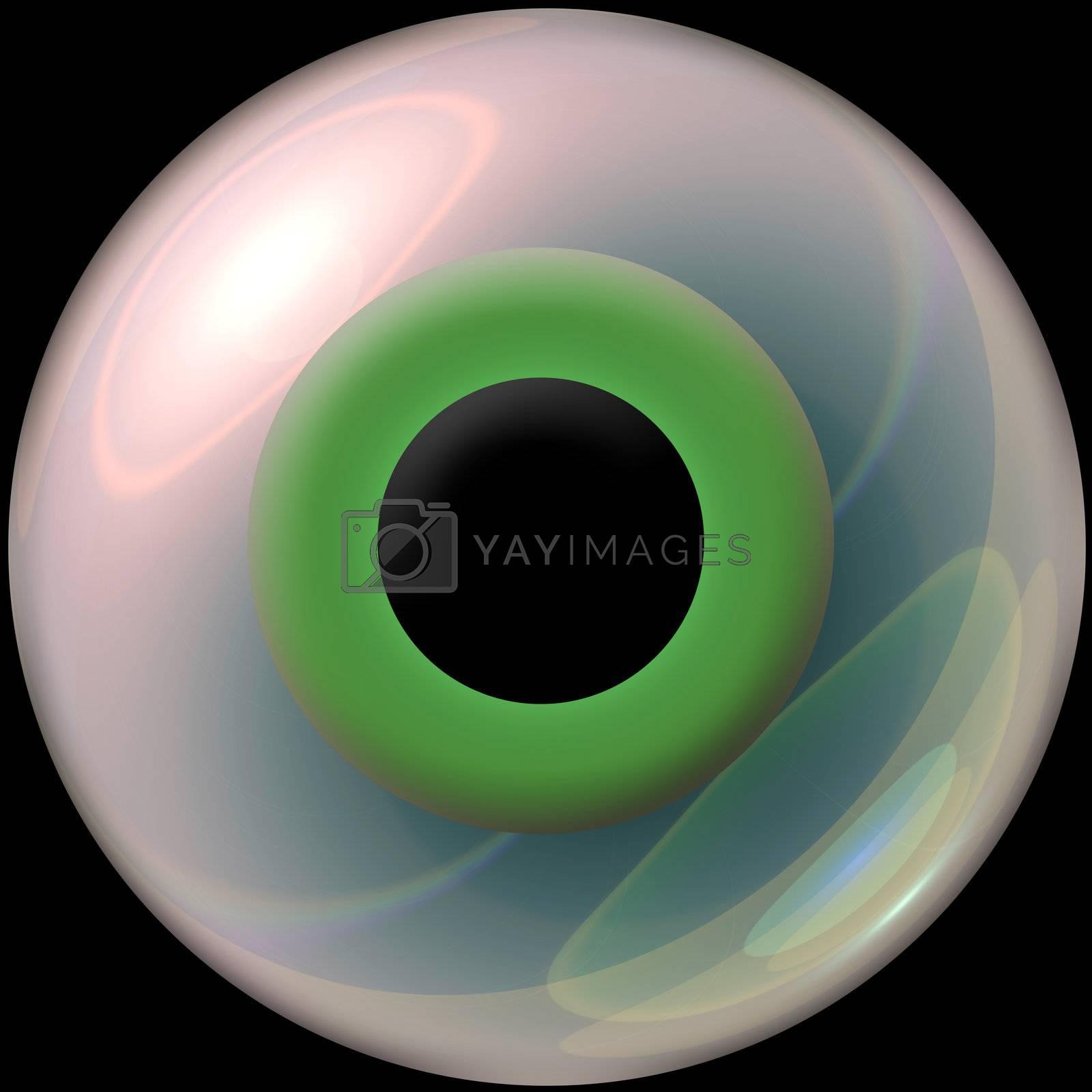 A nice green 3d eye.