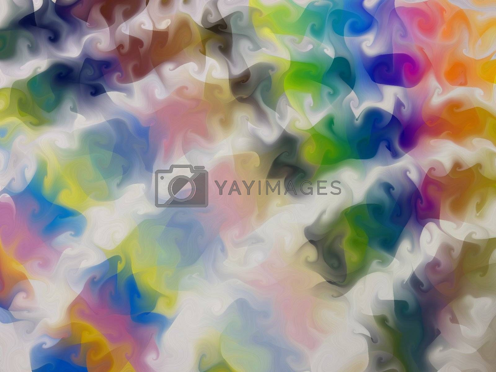 A swirly, rainbow background- originally an image of the pantone guide, all spread out.