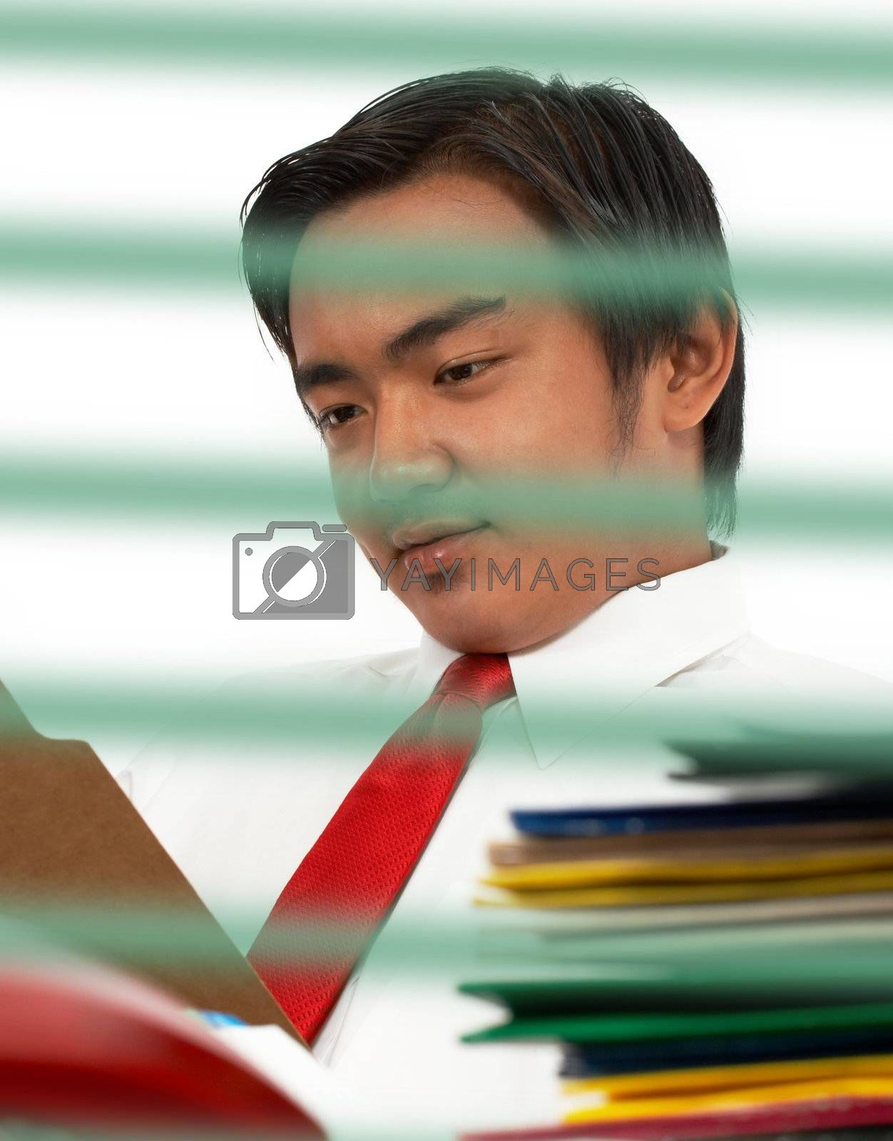 Man Reading A Document by stuartmiles