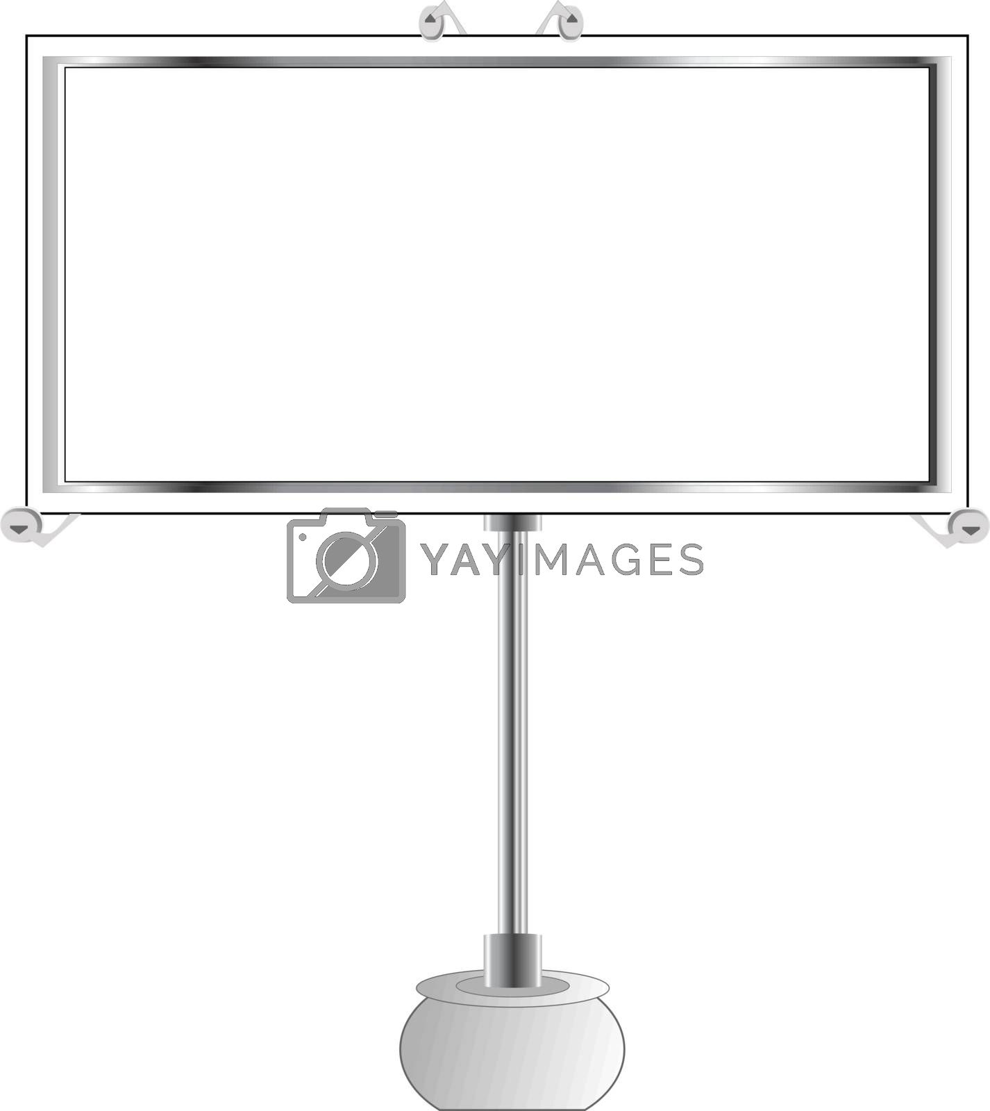 Advertise billboard. Vector