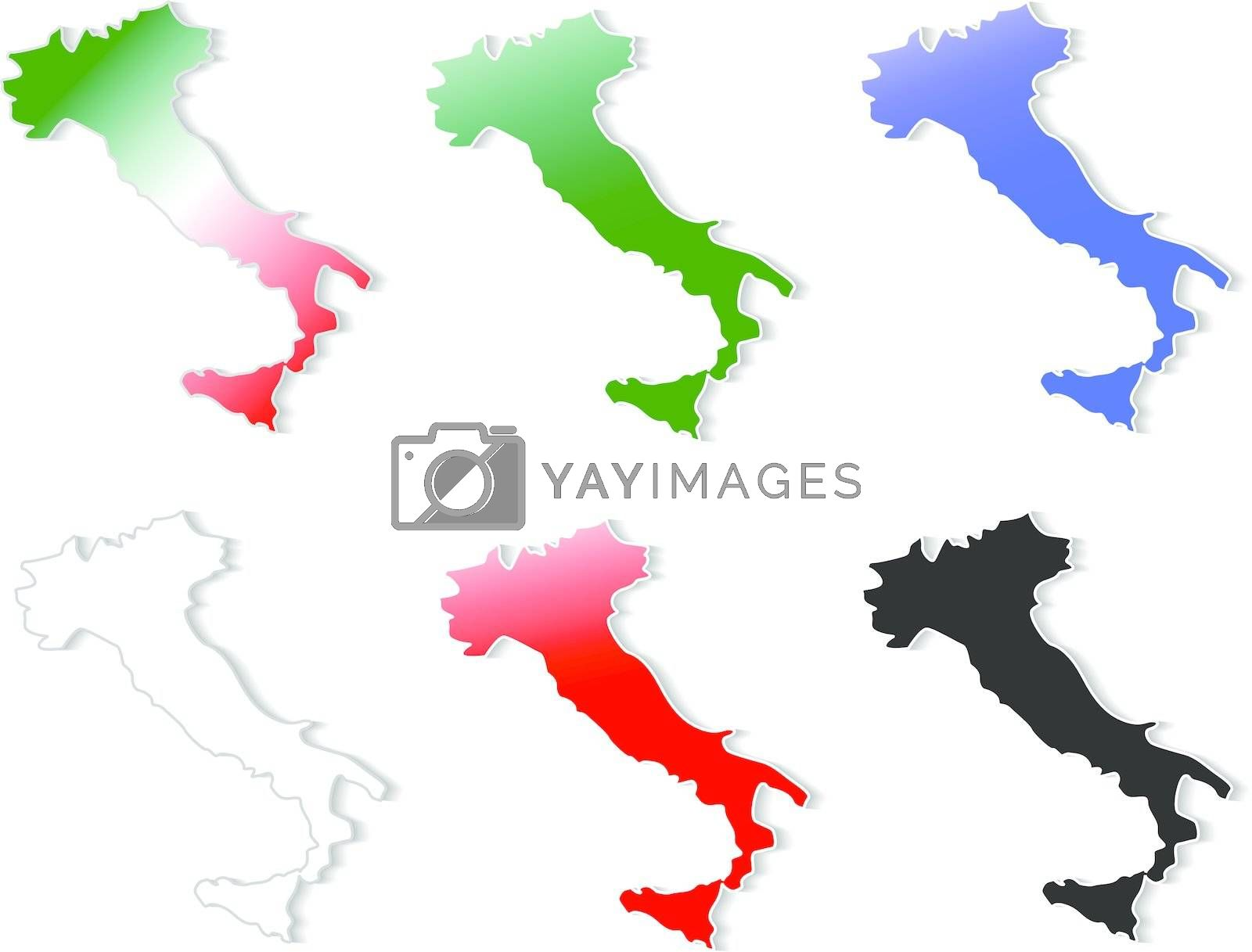 form of Italy stickers set