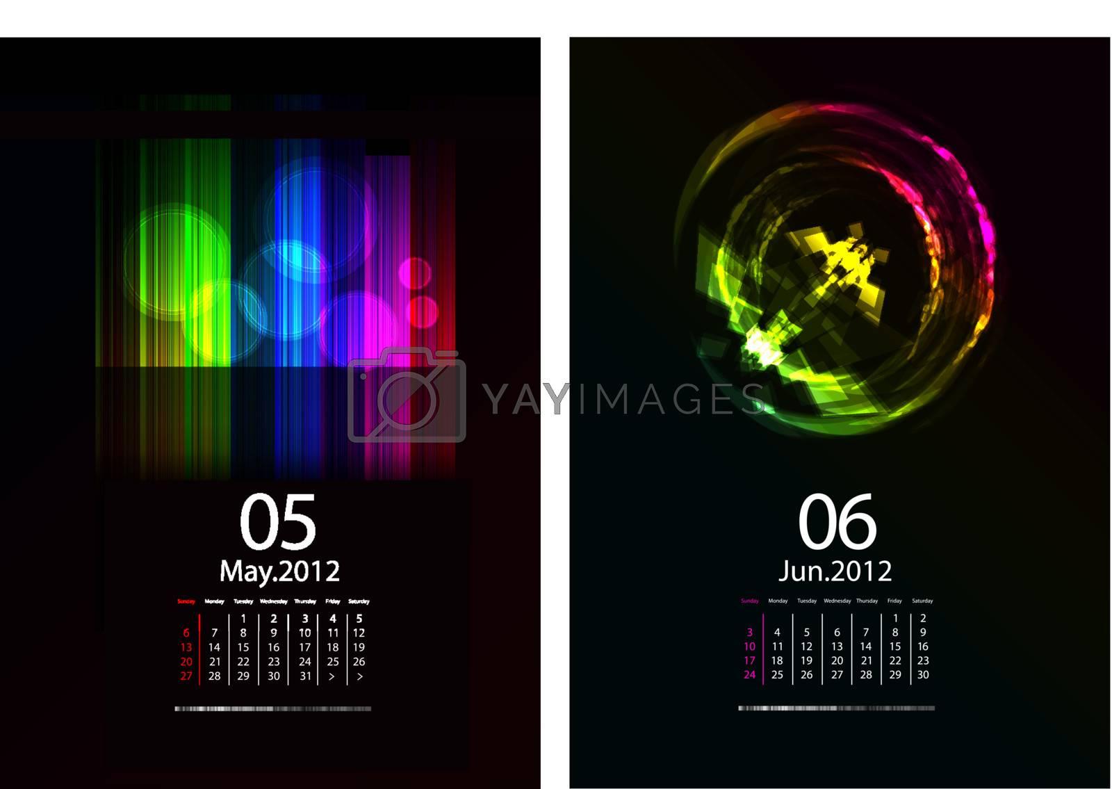 A Series Of Calendars Magic Light. May and June 2012