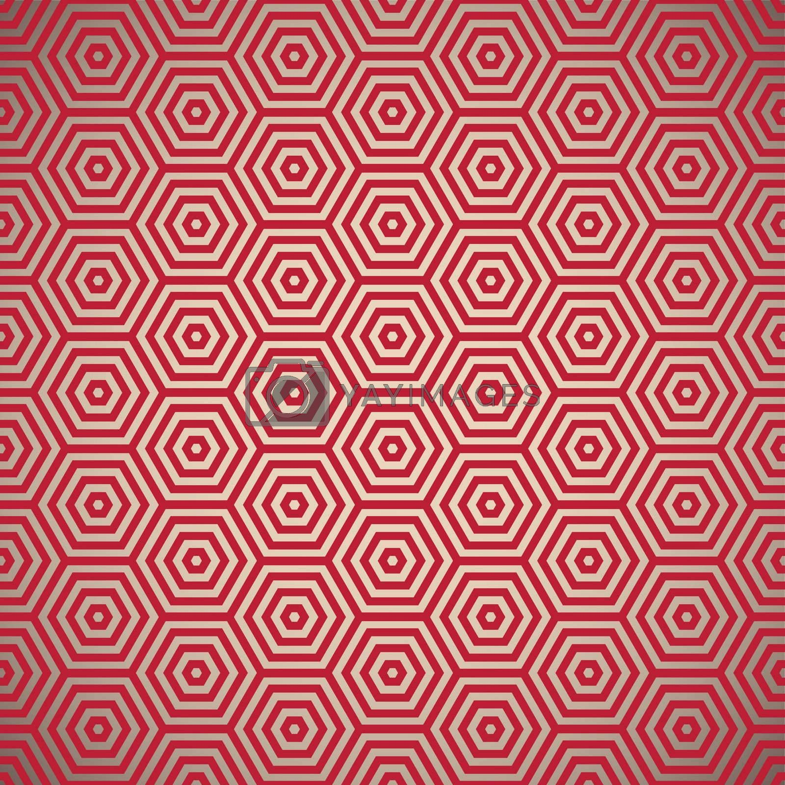 Retro inspired red seamless background pattern design