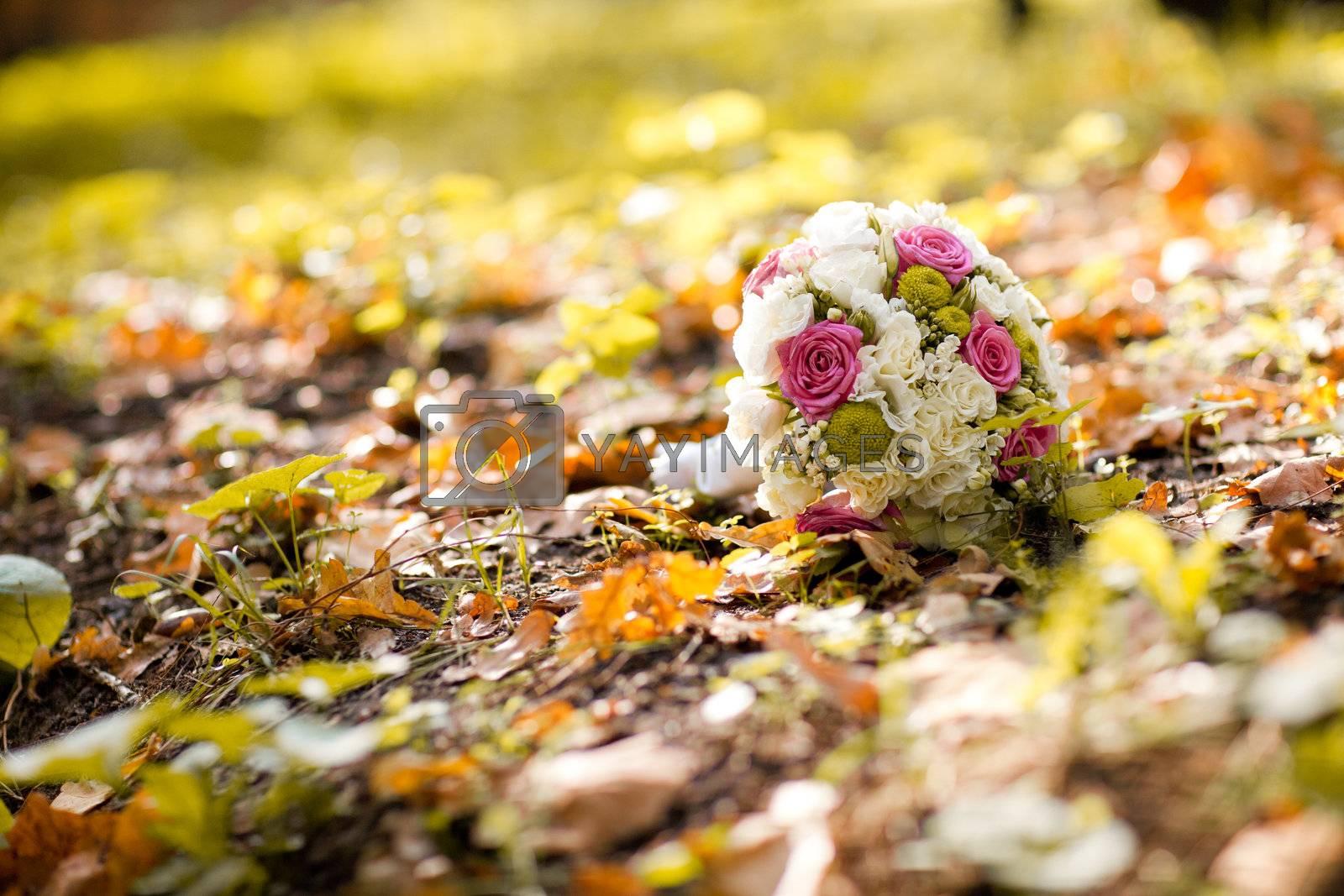 wedding bouquet in autumn