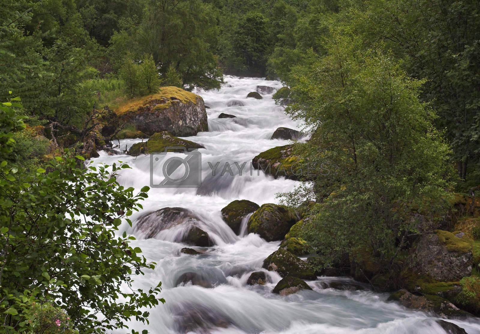Mountain stream by MikLav