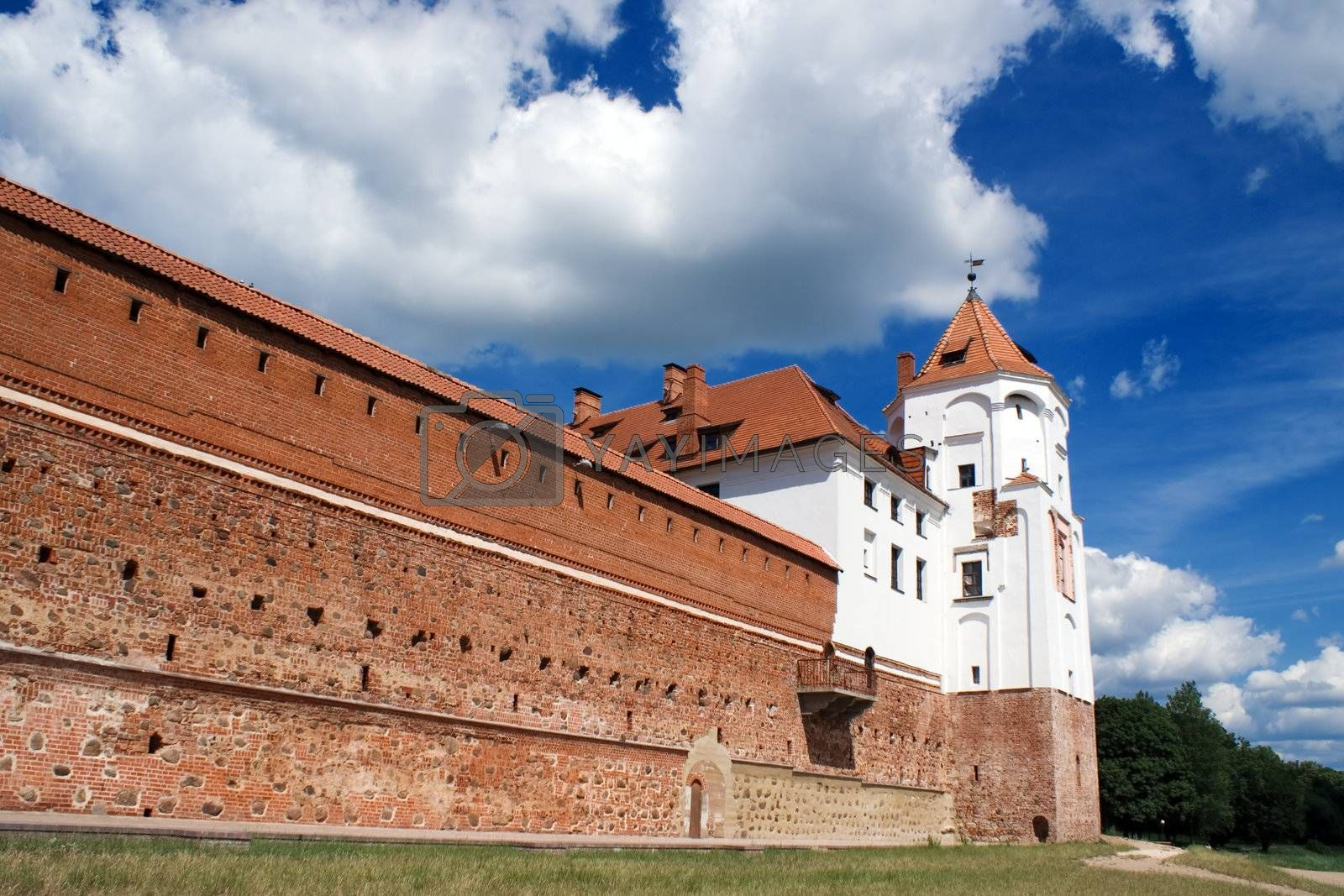 Wall and Tower of Mir Castle, Belarus