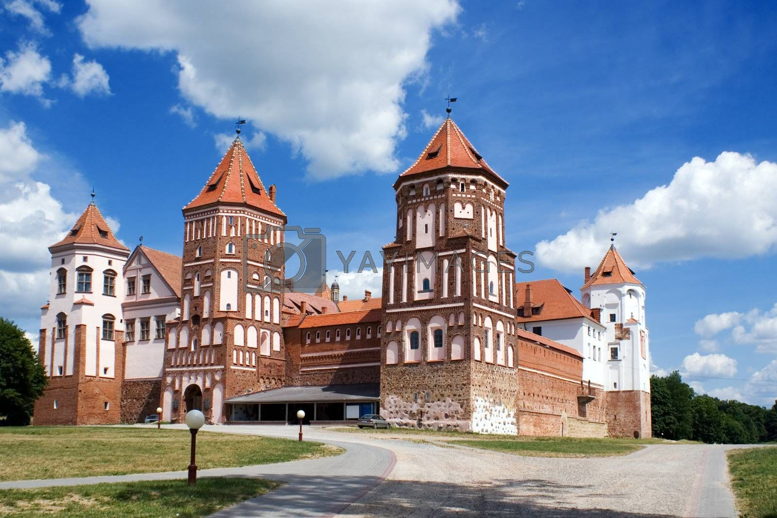 Grand view to Castle of Mir, Belarus