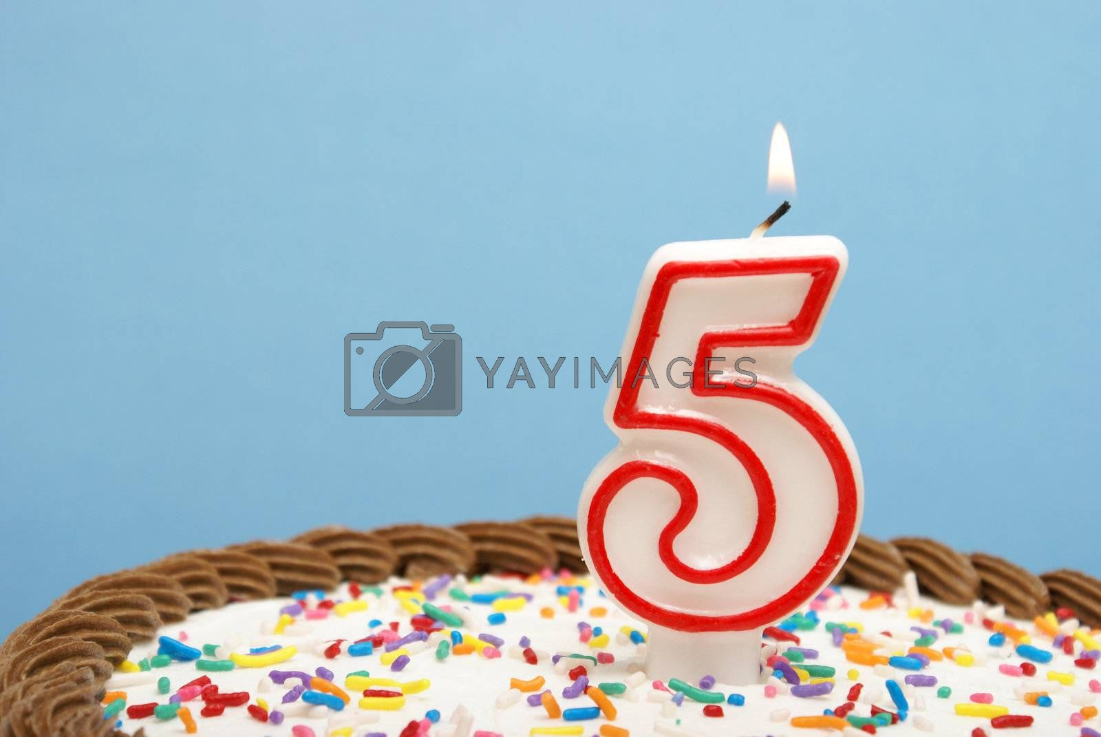 A celebration of the fifth year either for a birthday, business or other event.