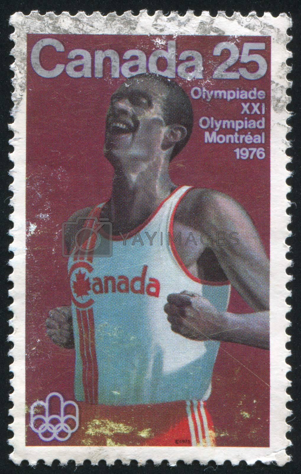 CANADA - CIRCA 1975: stamp printed by Canada, shows Marathon running, circa 1975
