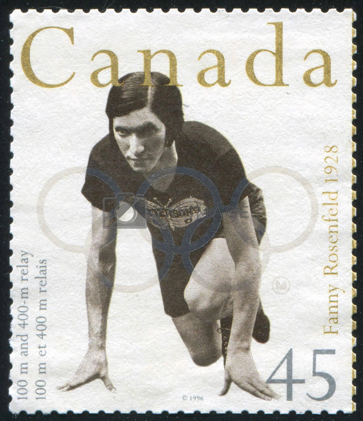 CANADA - CIRCA 1996: stamp printed by Canada, shows Fanny Rosenfeld, circa 1996