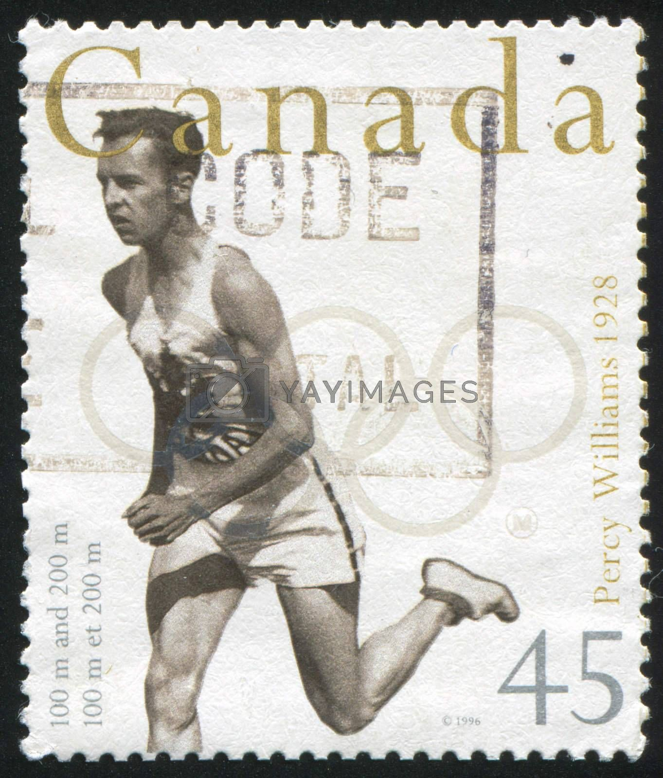 CANADA - CIRCA 1996: stamp printed by Canada, shows Percy Williams, circa 1996