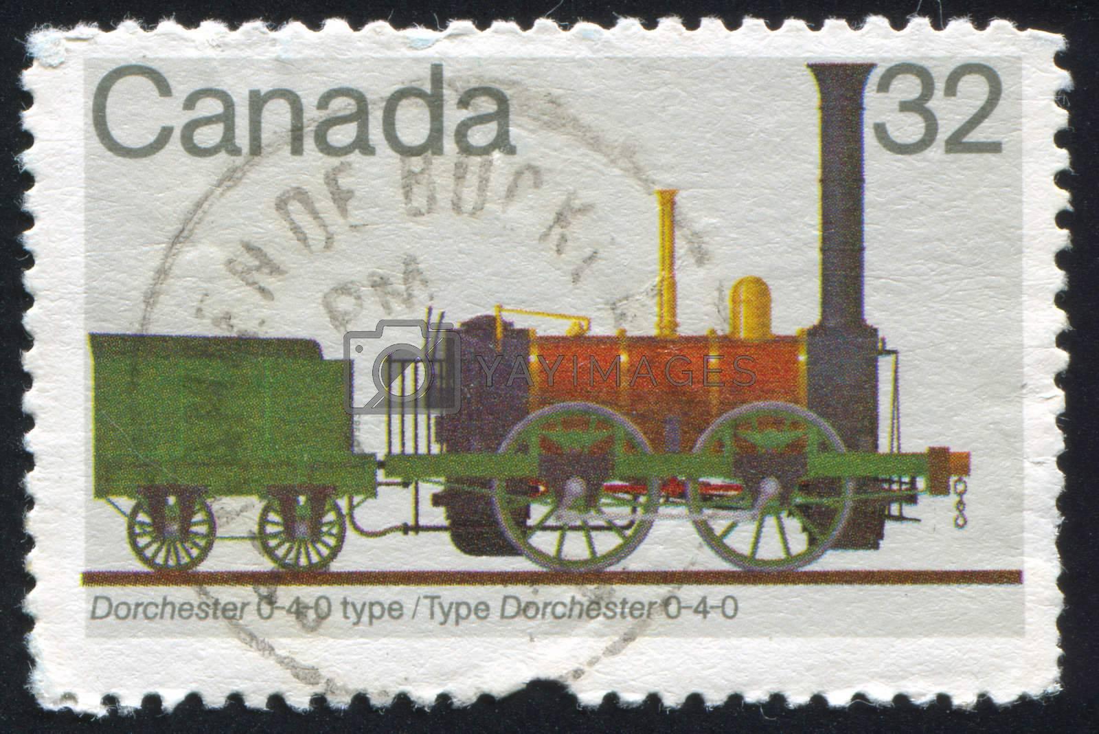 CANADA - CIRCA 1983: stamp printed by Canada, shows locomotive, circa 1983