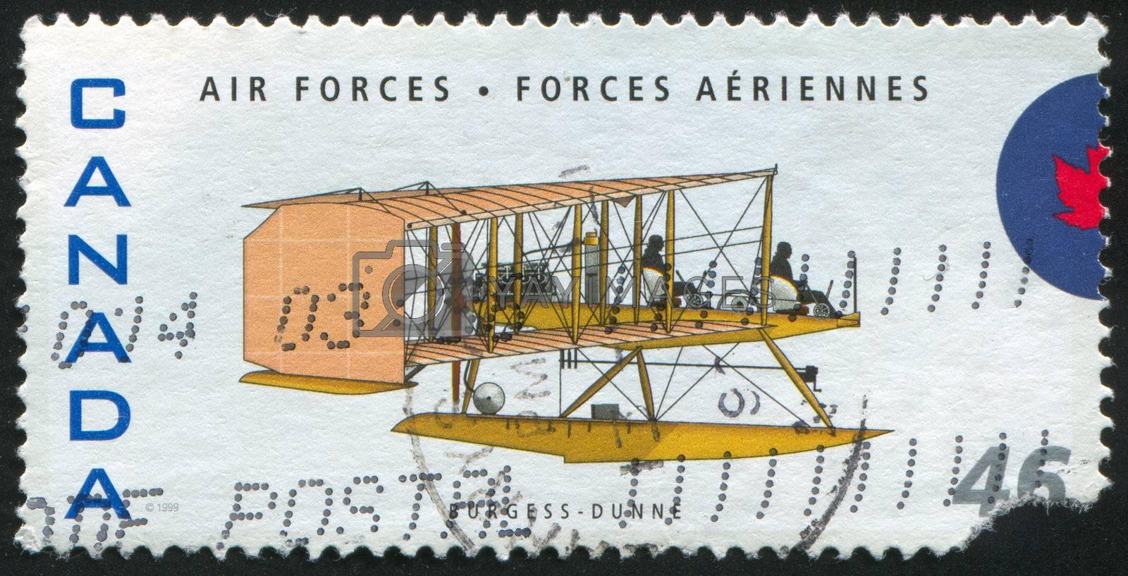 CANADA - CIRCA 1999: stamp printed by Canada, shows aeroplane, Burgess-Dunne seaplane,circa 1999
