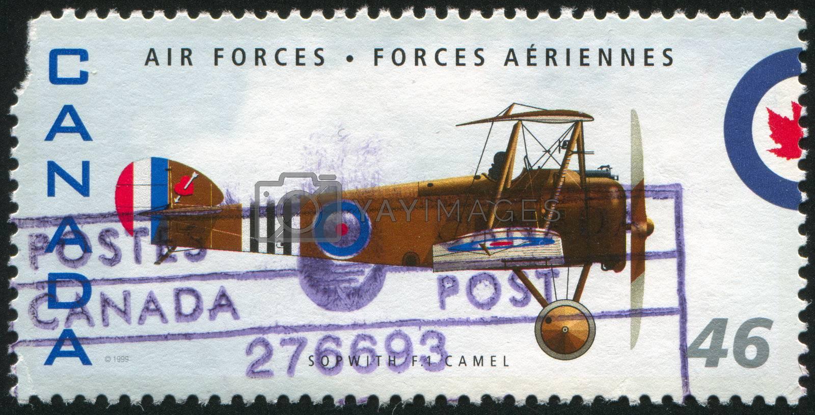 CANADA - CIRCA 1999: stamp printed by Canada, shows aeroplane, Sopwith F1 Camel, circa 1999
