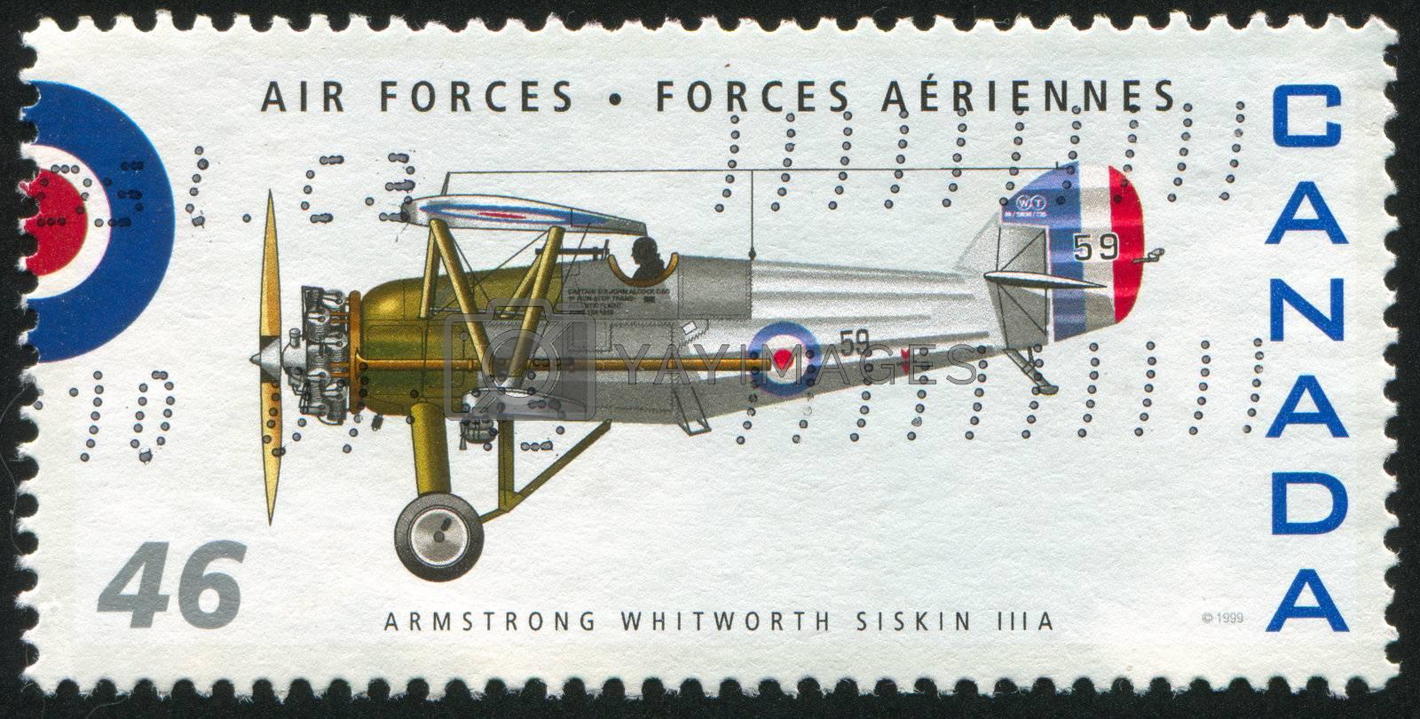 CANADA - CIRCA 1999: stamp printed by Canada, shows aeroplane, Armstrong Whitworth Siskin IIIA, circa 1999