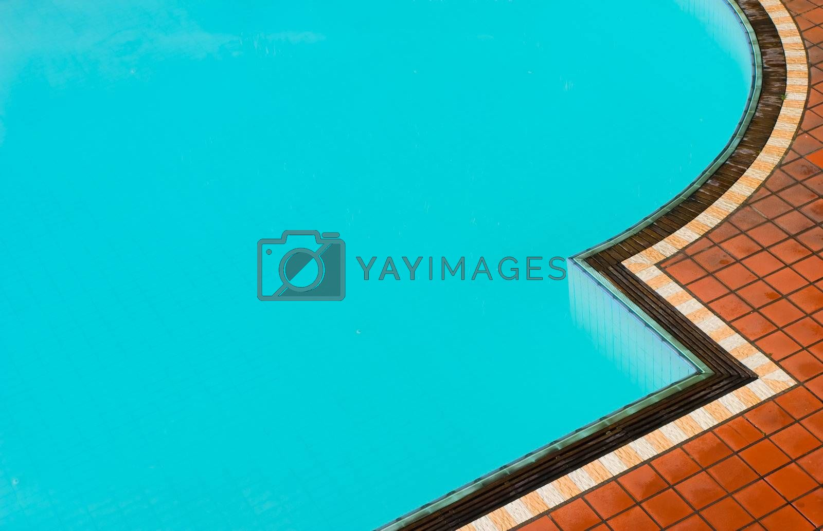 Detail of a swimming pool.