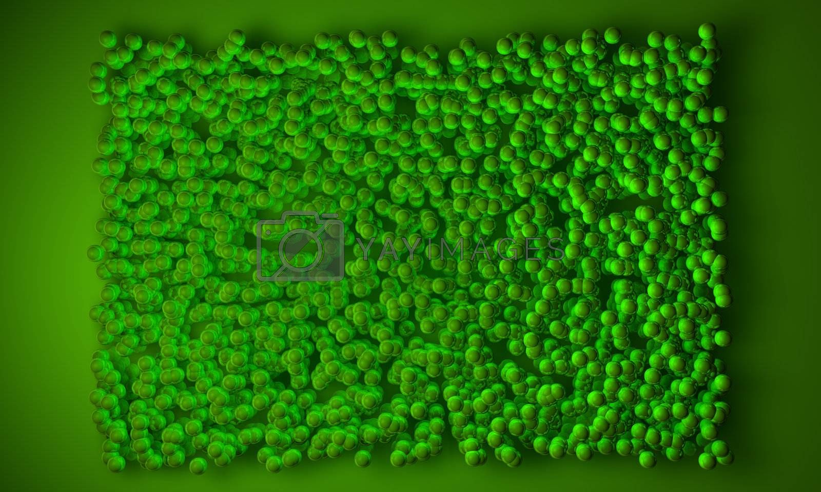 Geometric block background in green color