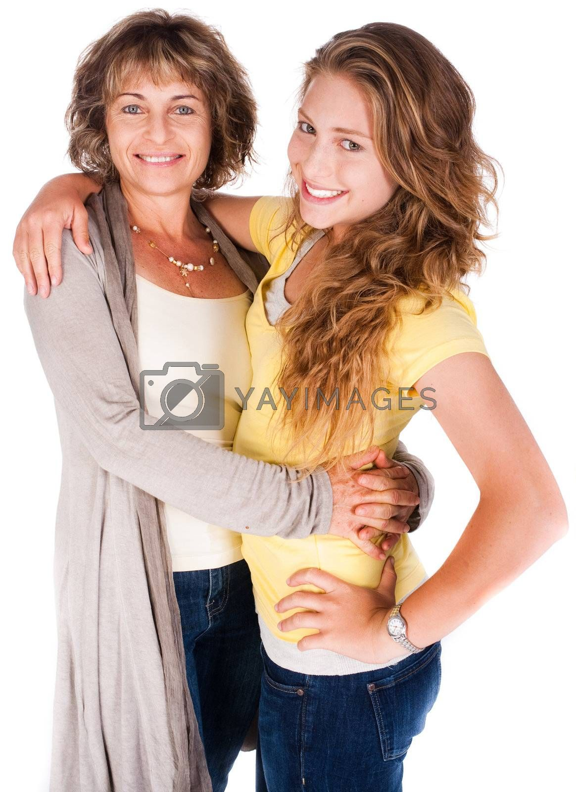 Mother and daughter embracing each other by get4net
