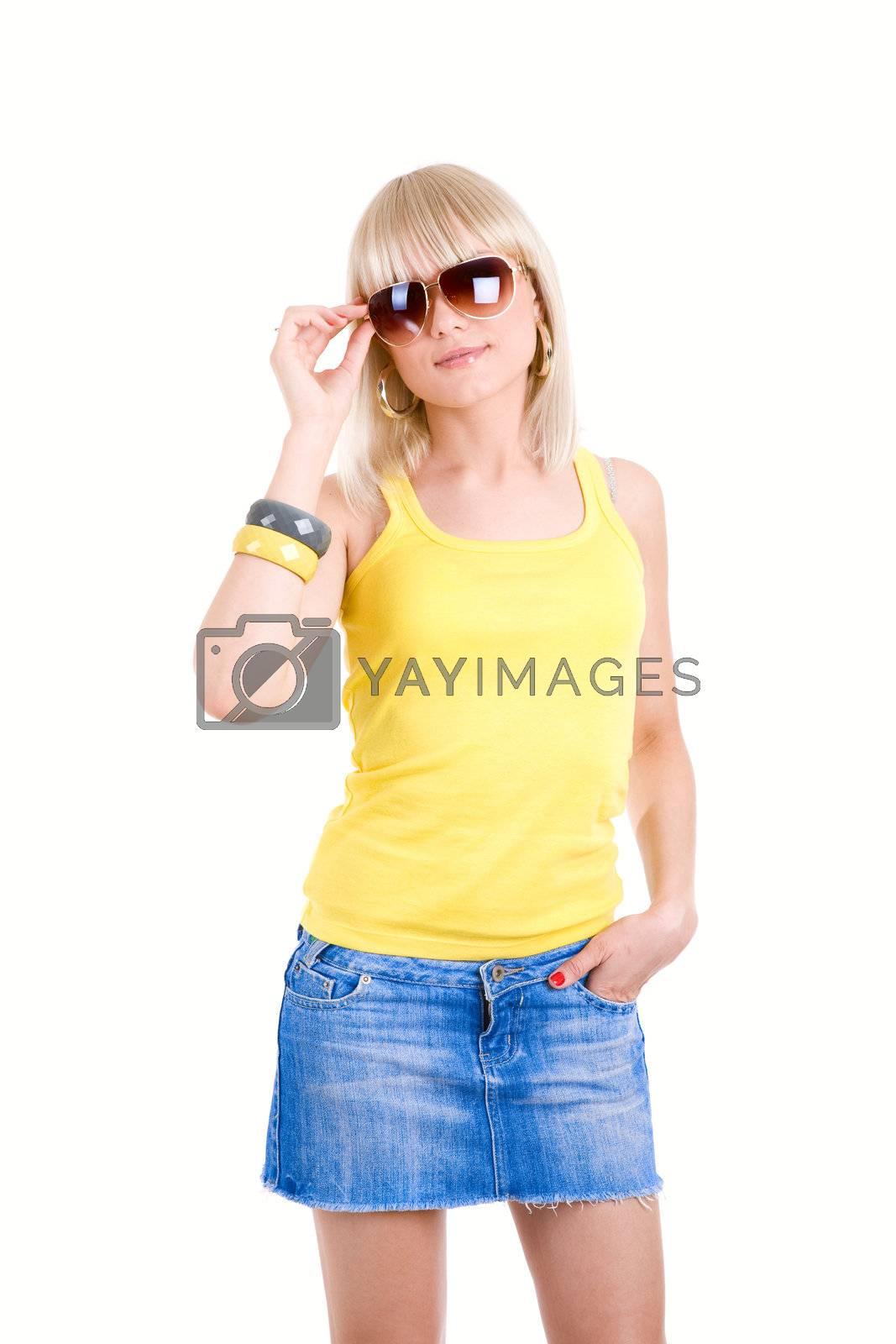 beauty in sunglasses