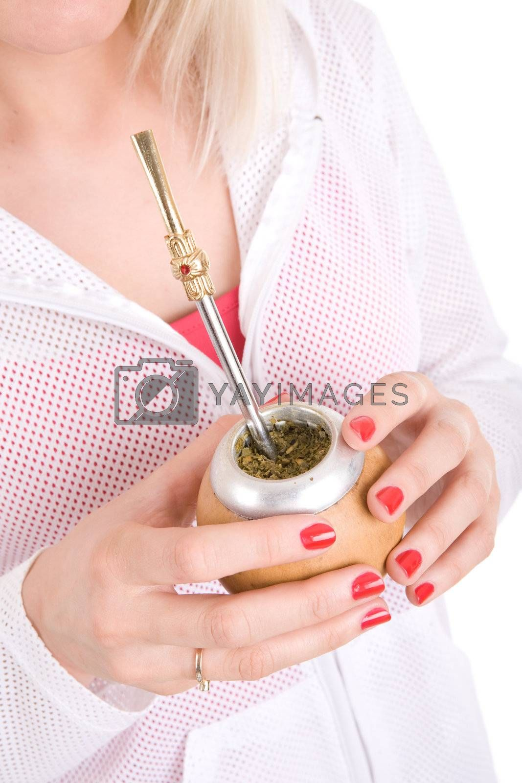 mate in the hands of white girl