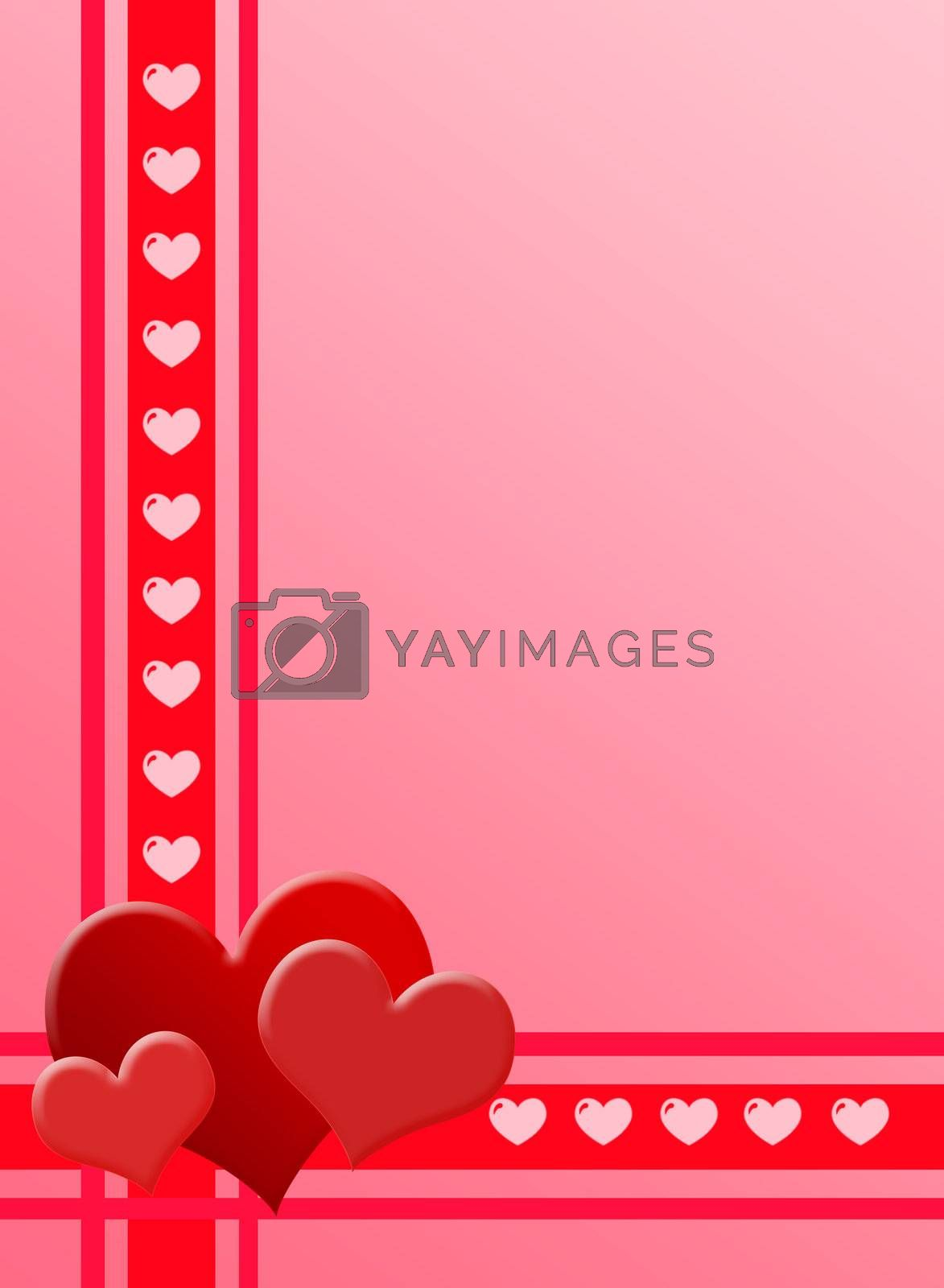 The Valentines day - Card with heart
