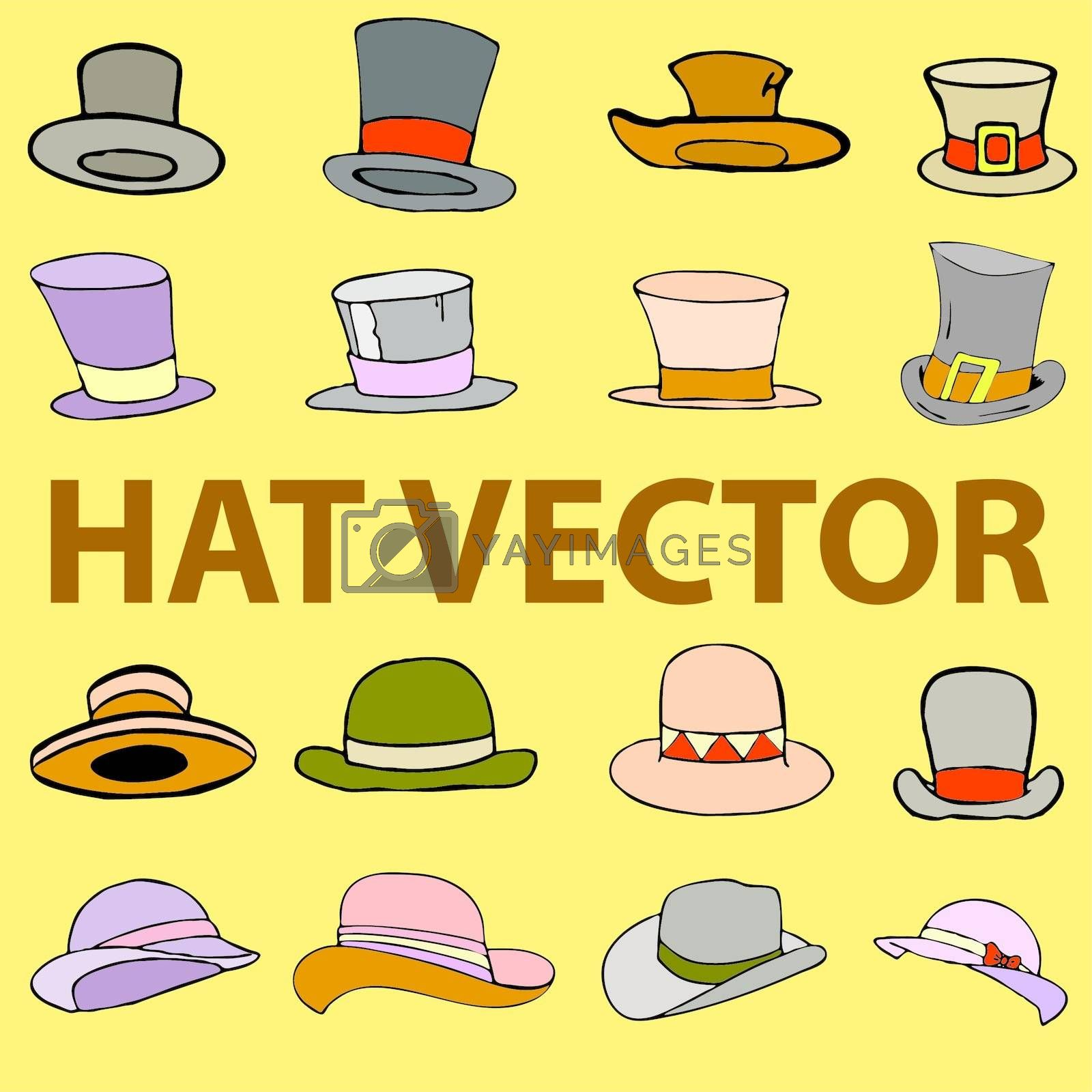 fashion hat vector illustration