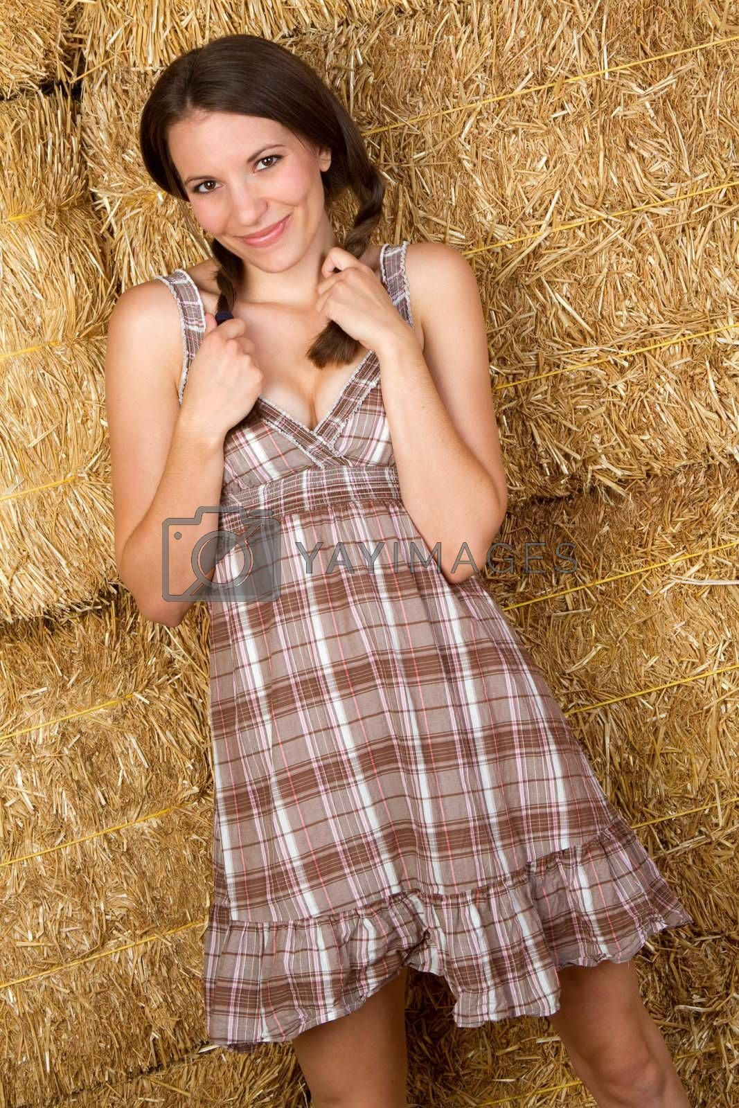 Beautiful smiling pretty country girl