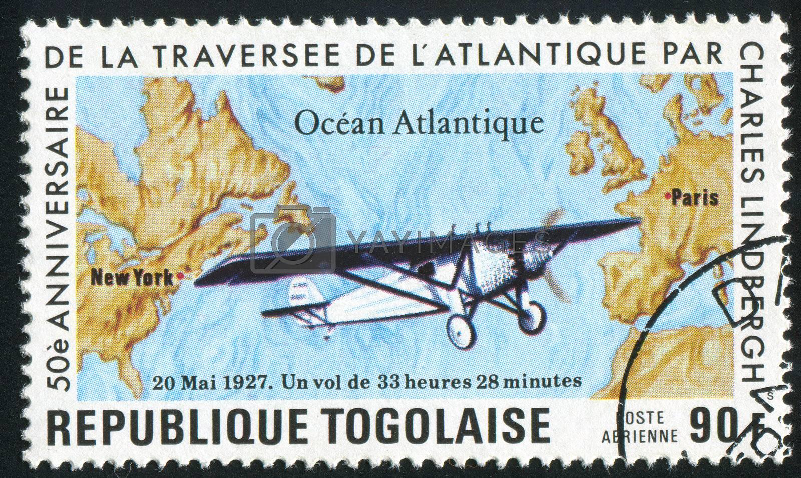 TOGO - CIRCA 1977: stamp printed by Togo, shows retro car, circa 1977.