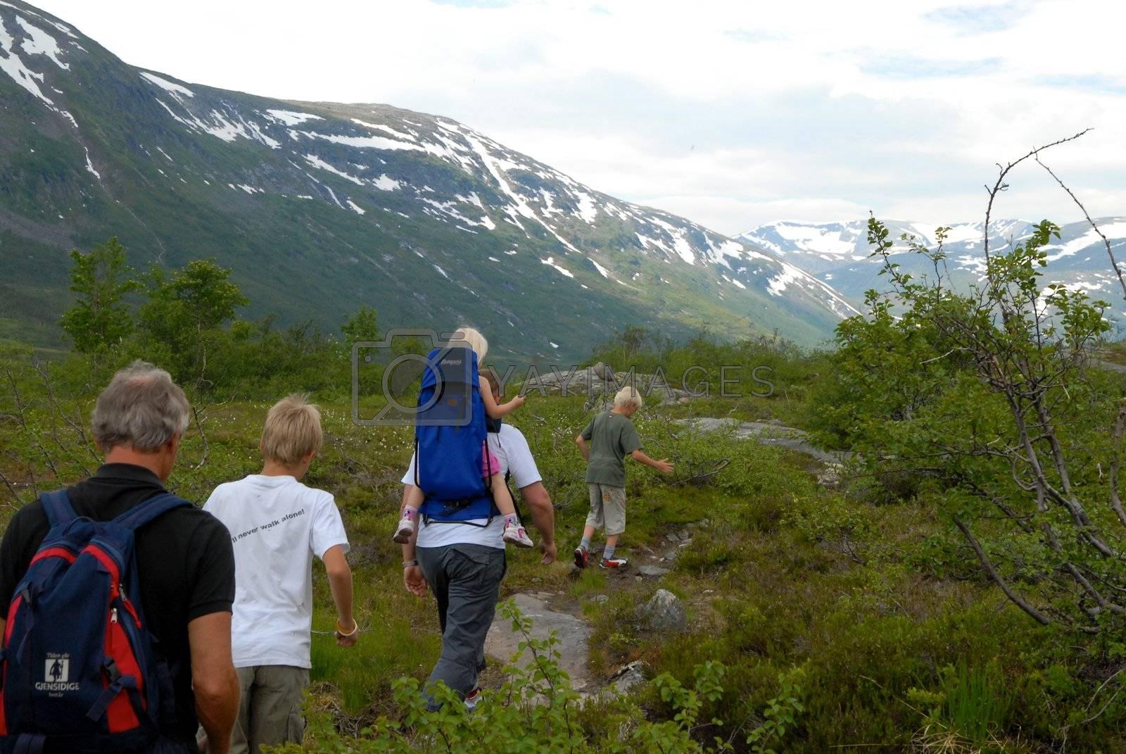 Scandinavian Lifestyle - hiking in the wild by Bildehagen