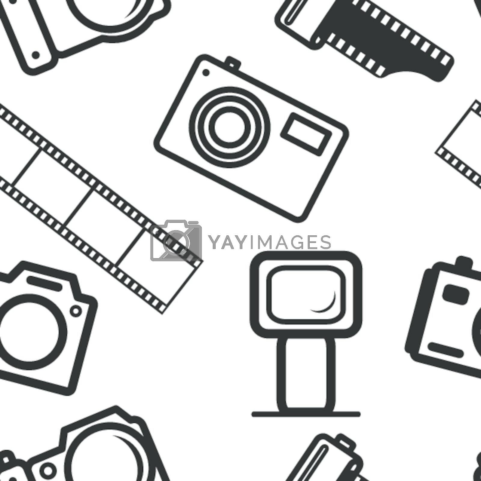 seamless background, of digital cameras, tripod, film
