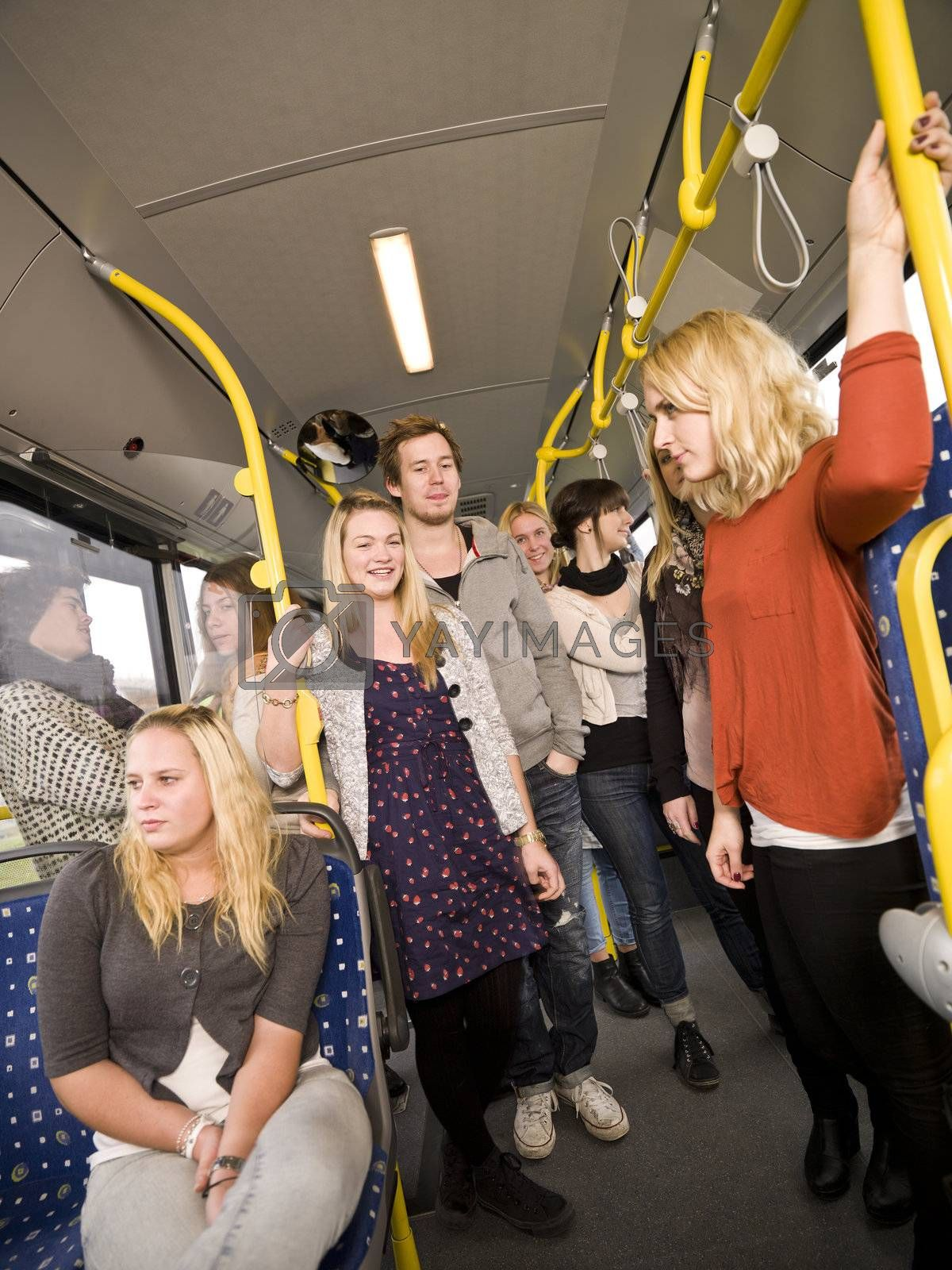Group of people on the bus