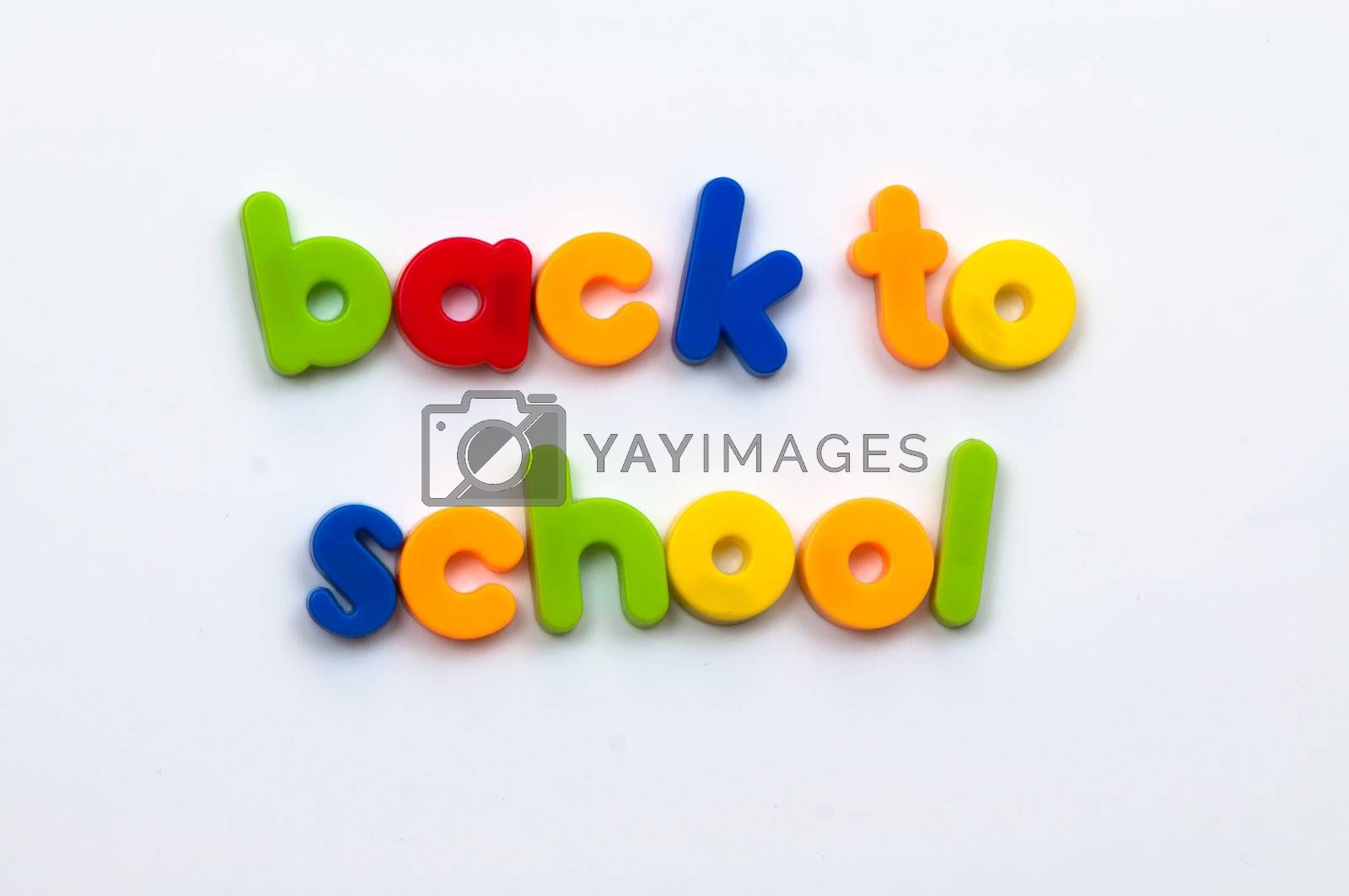 Royalty free image of Back to school fridge magnet letters  by pennypix