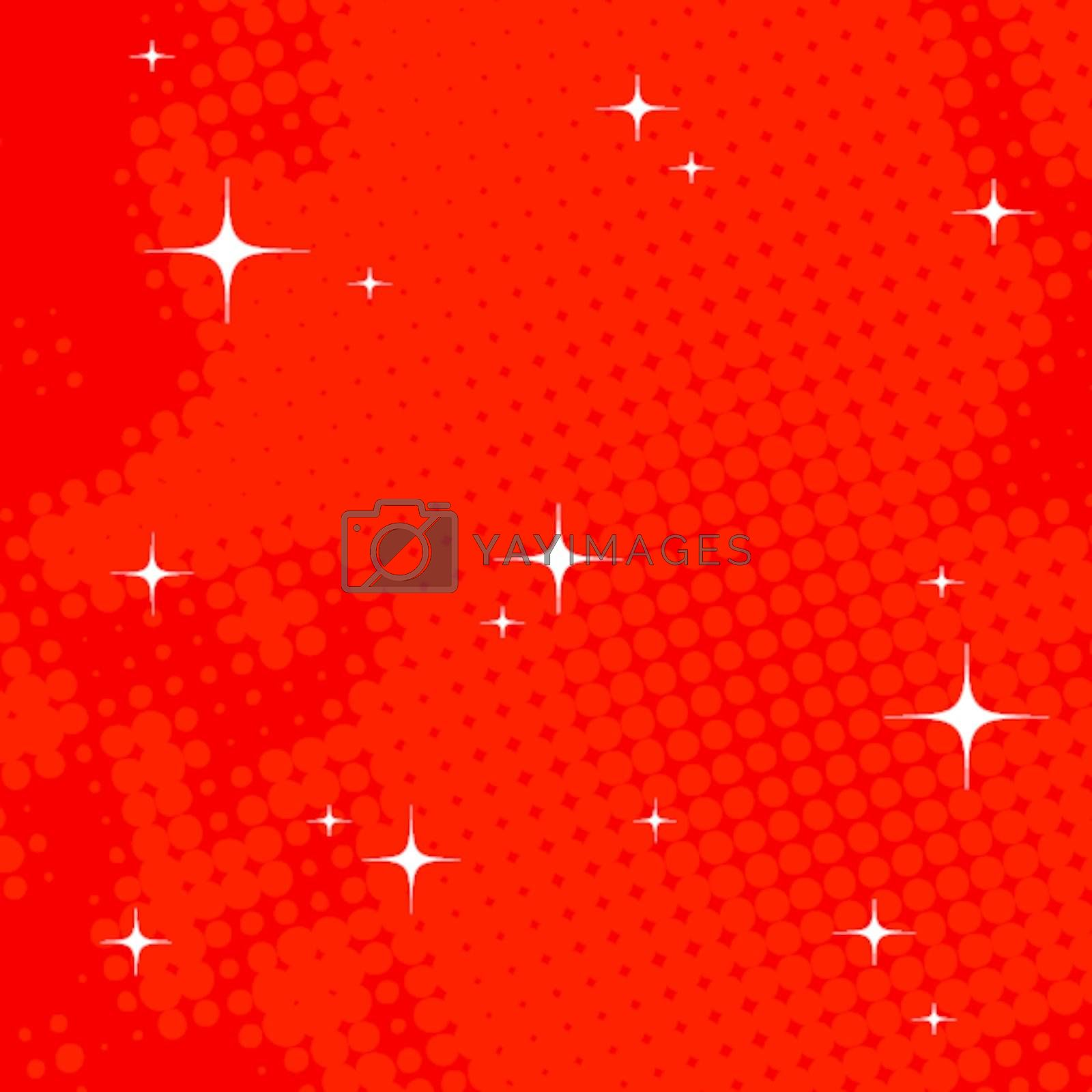 Abstract red texture with bright glare and ray