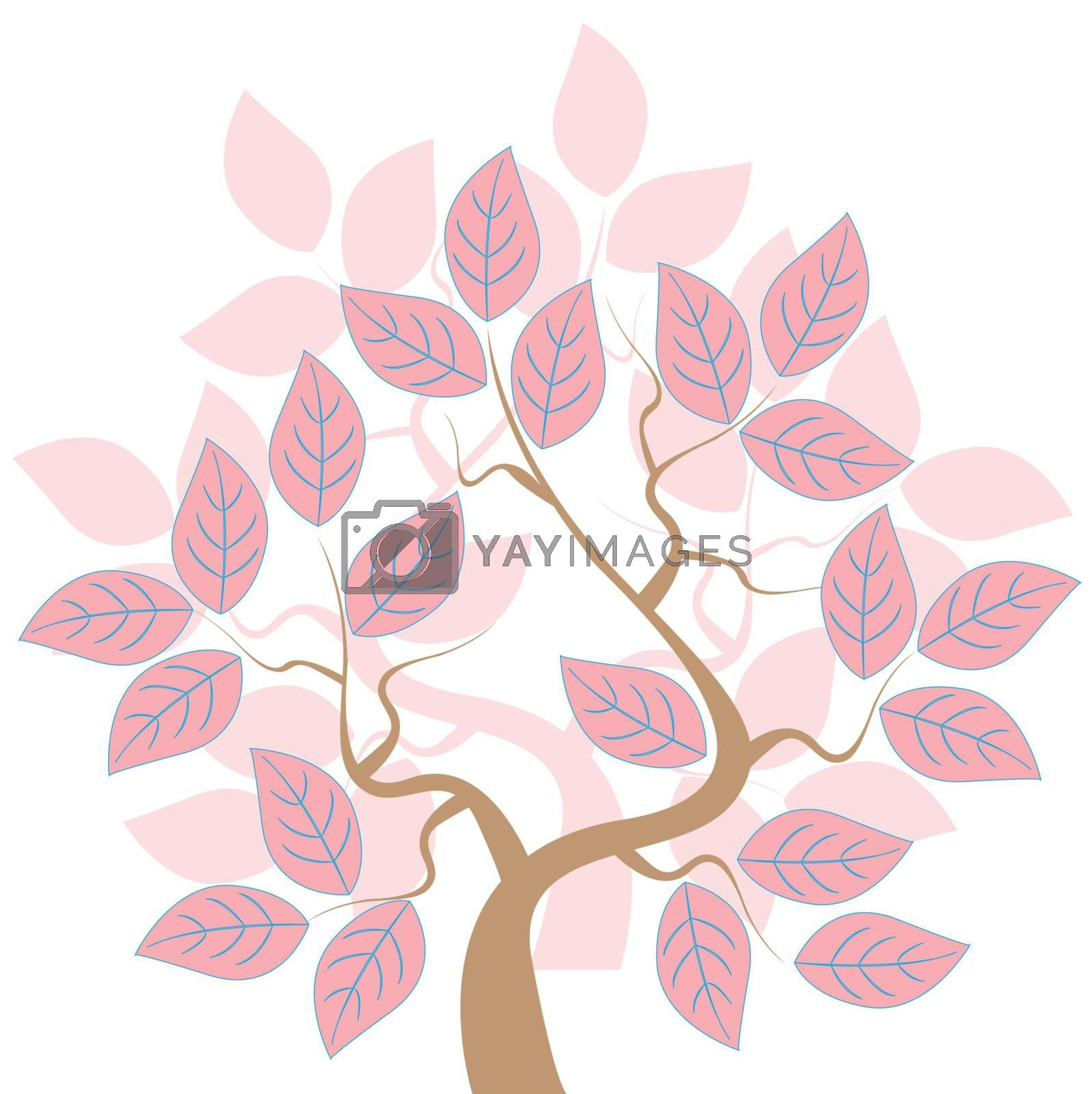 tree with rose sheet in magic garden