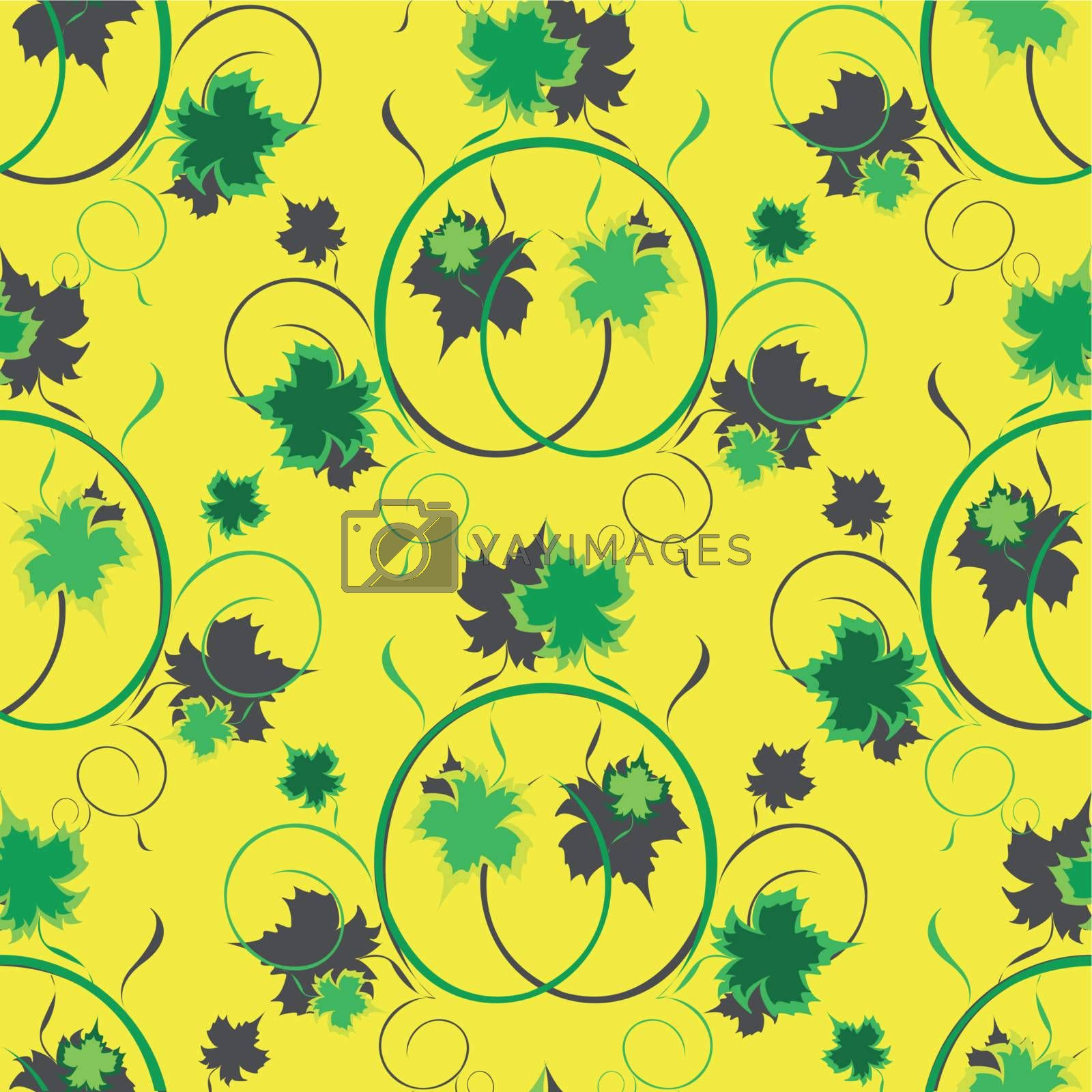 seamless texture grape sheet on yellow background
