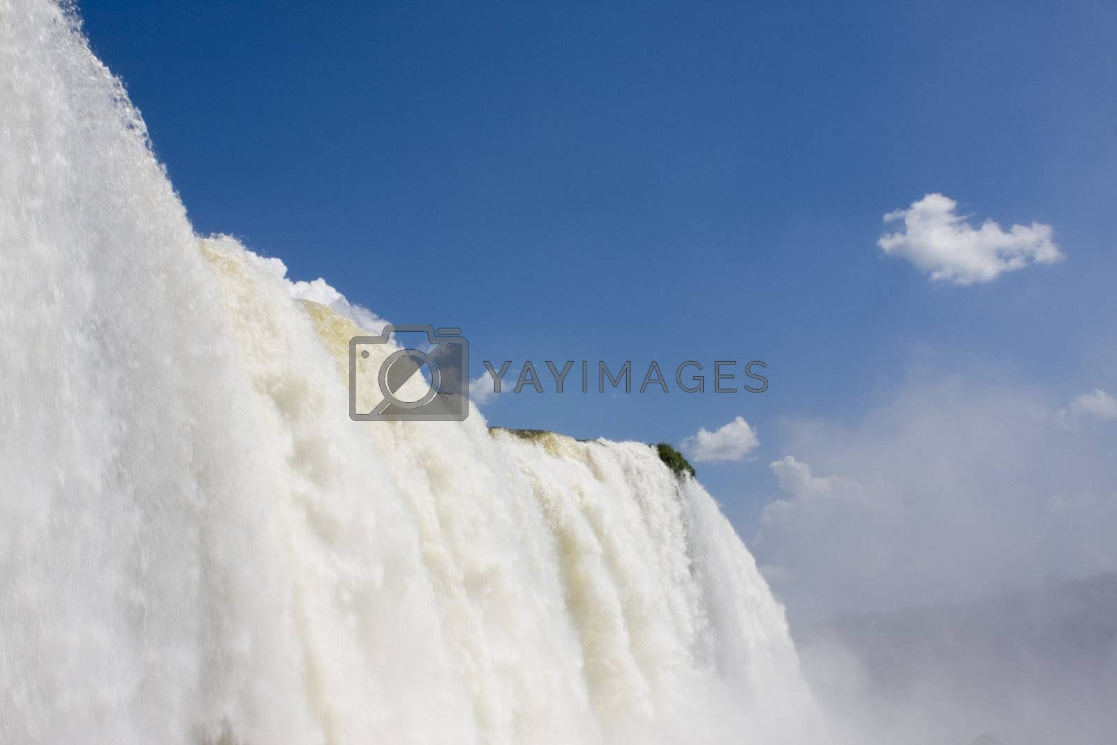 Detail of the Iguazu Falls in Brazil by ArtmannWitte