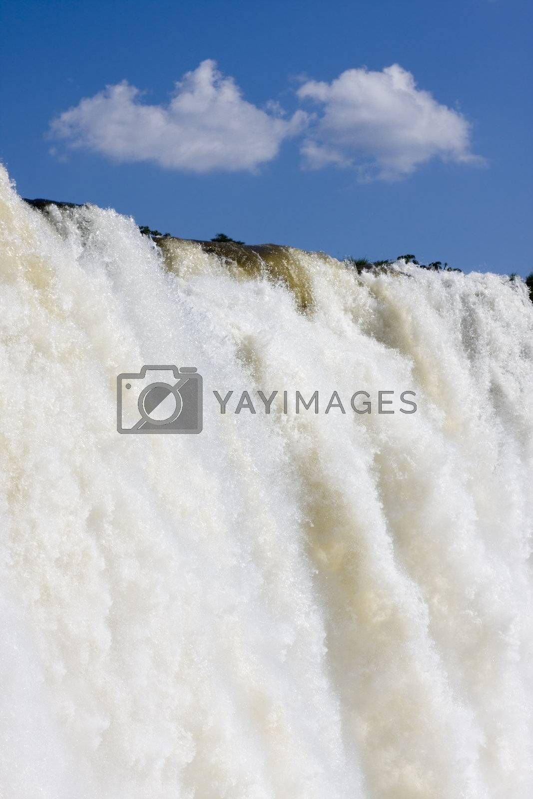 Detail of the main waterfall - Iguazu Falls - Brazil