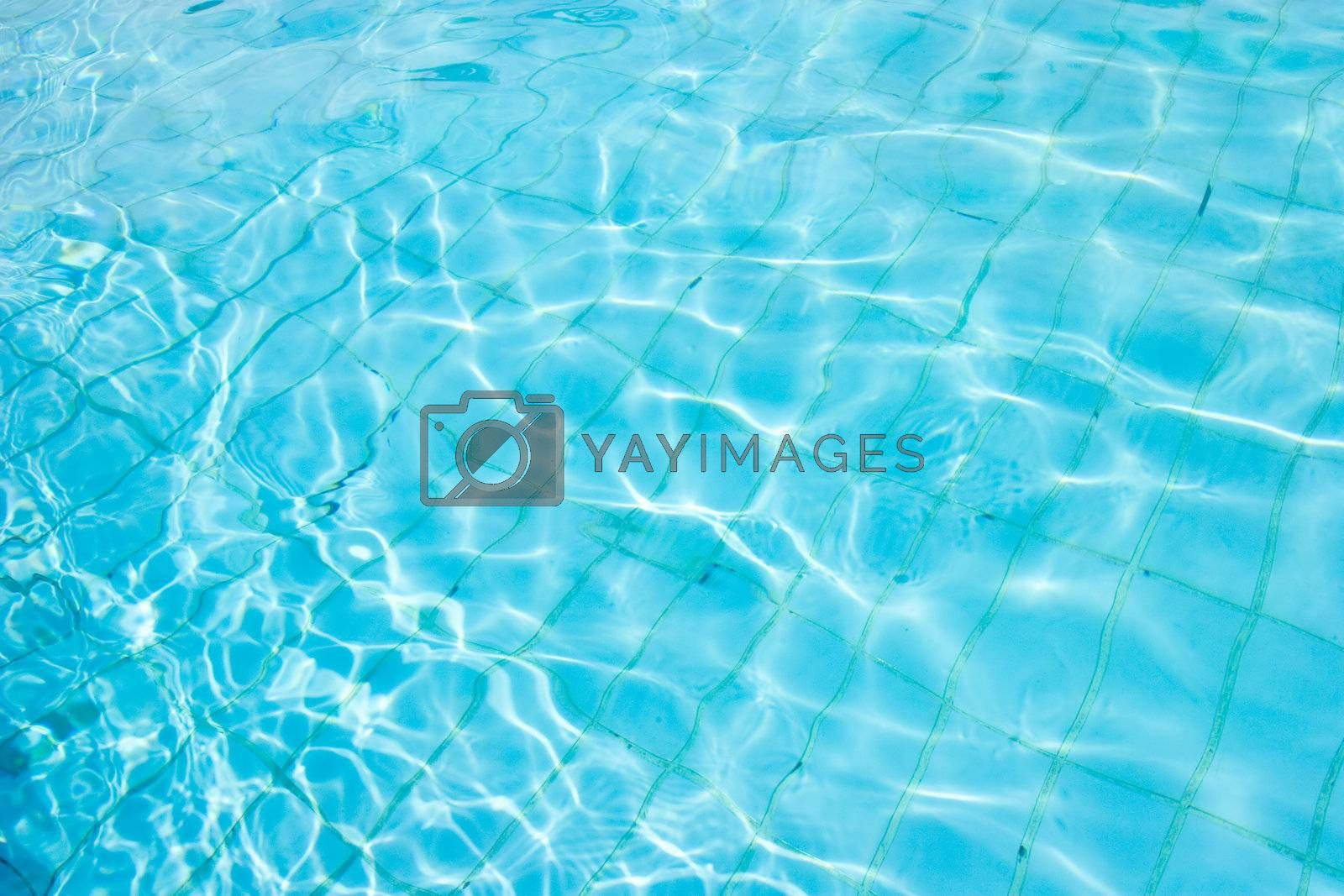 Water surface on a pool.