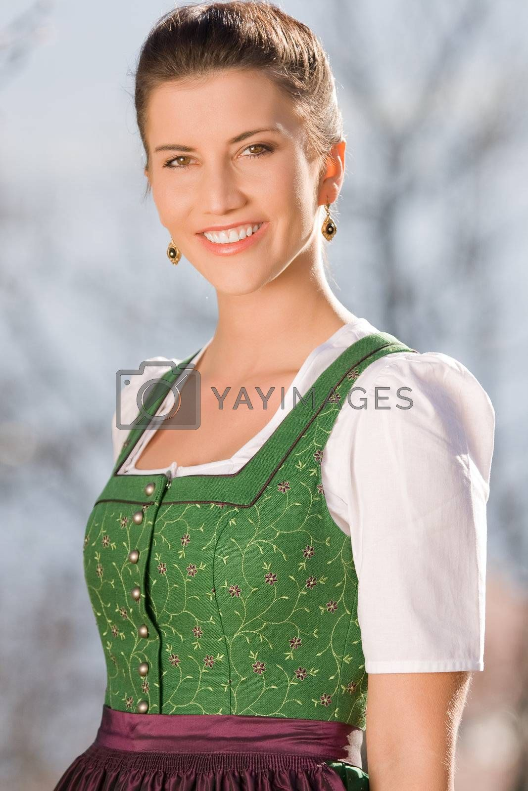 portait of a Bavarian girl in costume