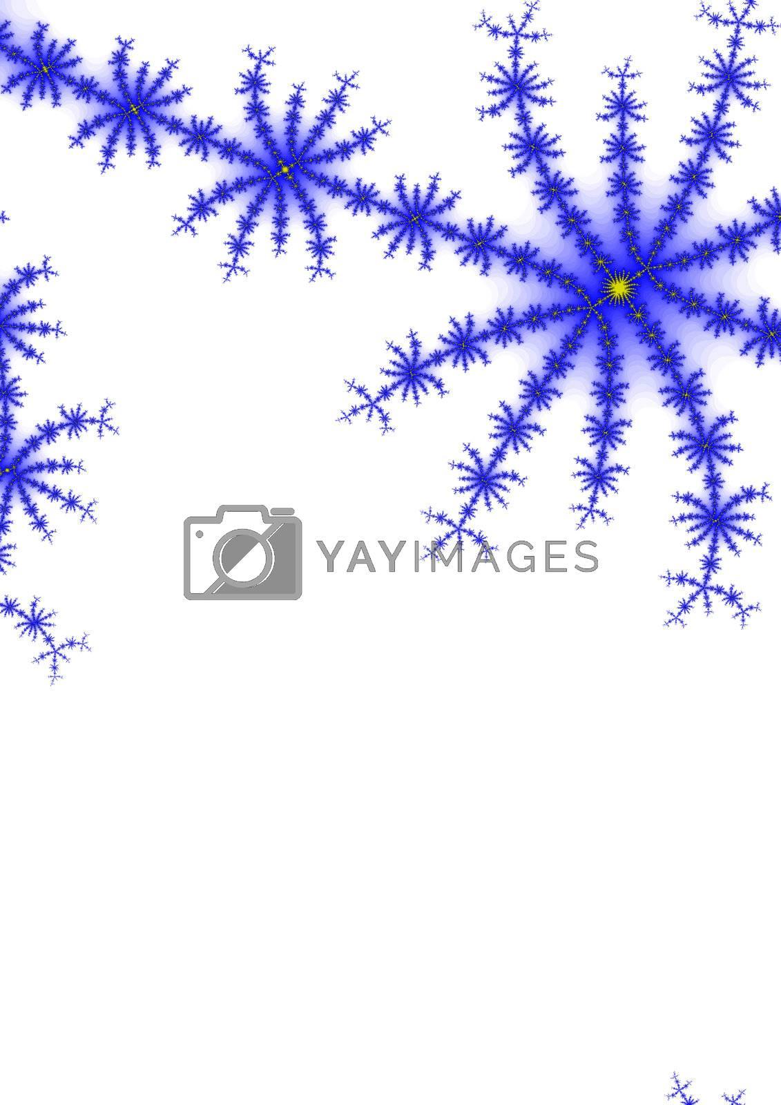 A fractal representation of snowfla