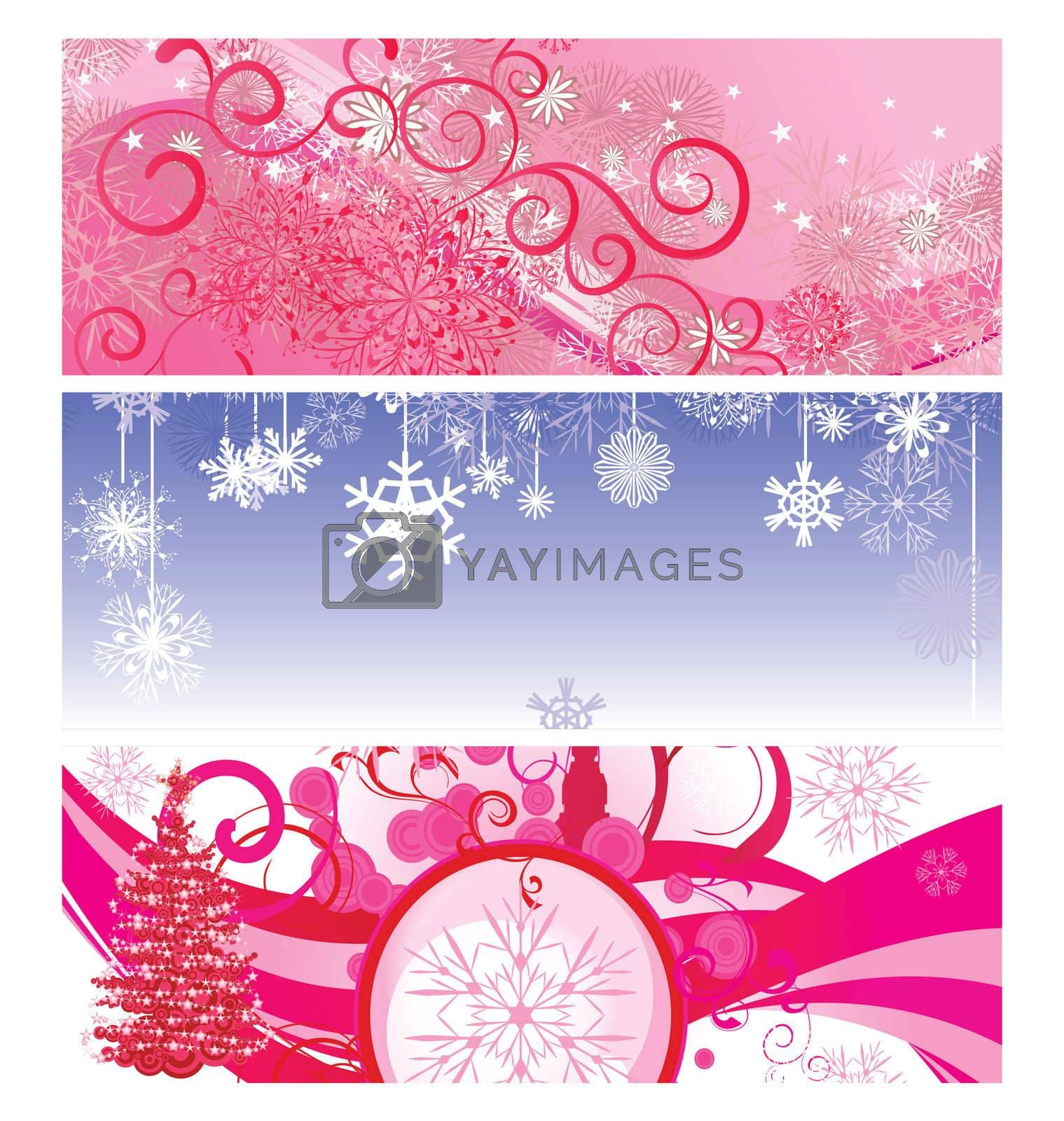 christmas banner vintage illustration