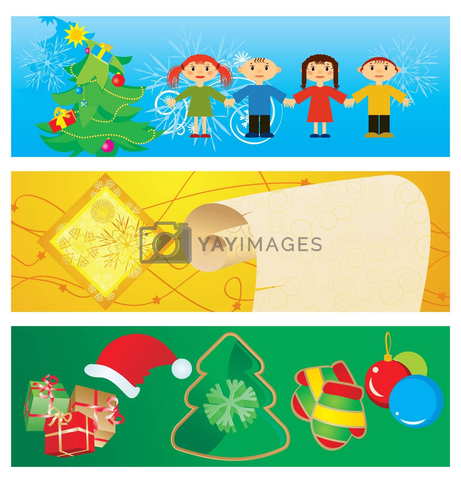 vector banners christmas set