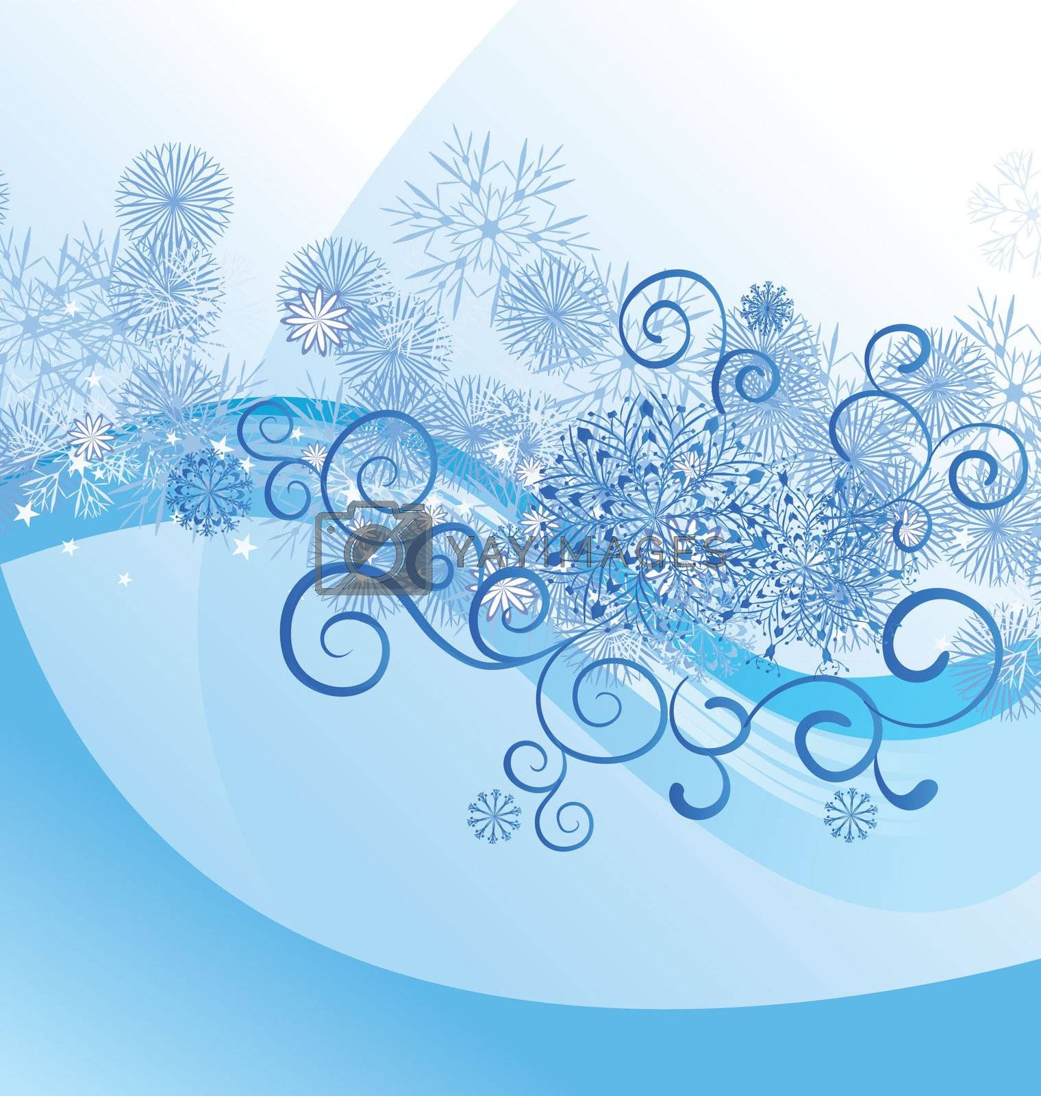 christmas vector border snowflake card