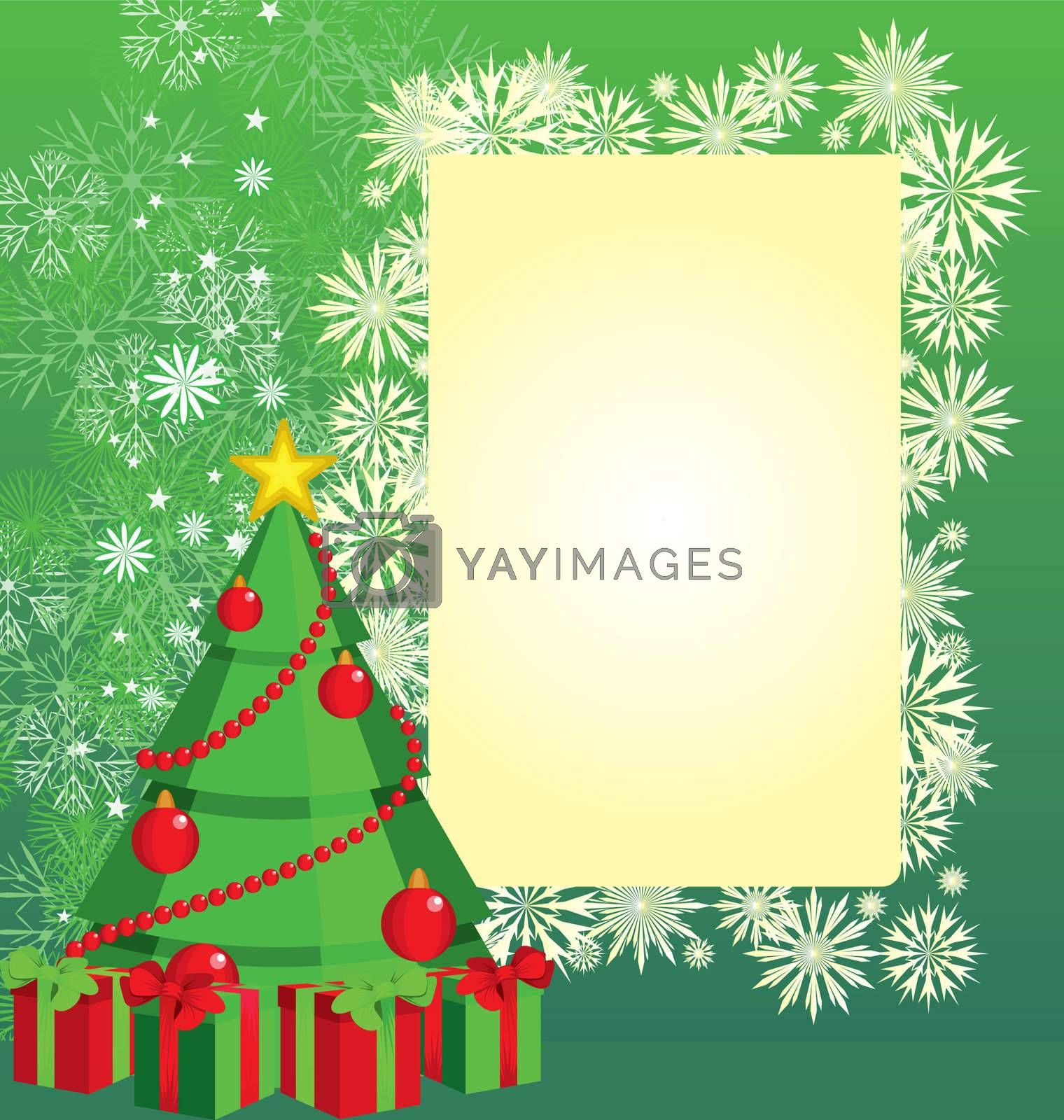 color christmas tree  illustration